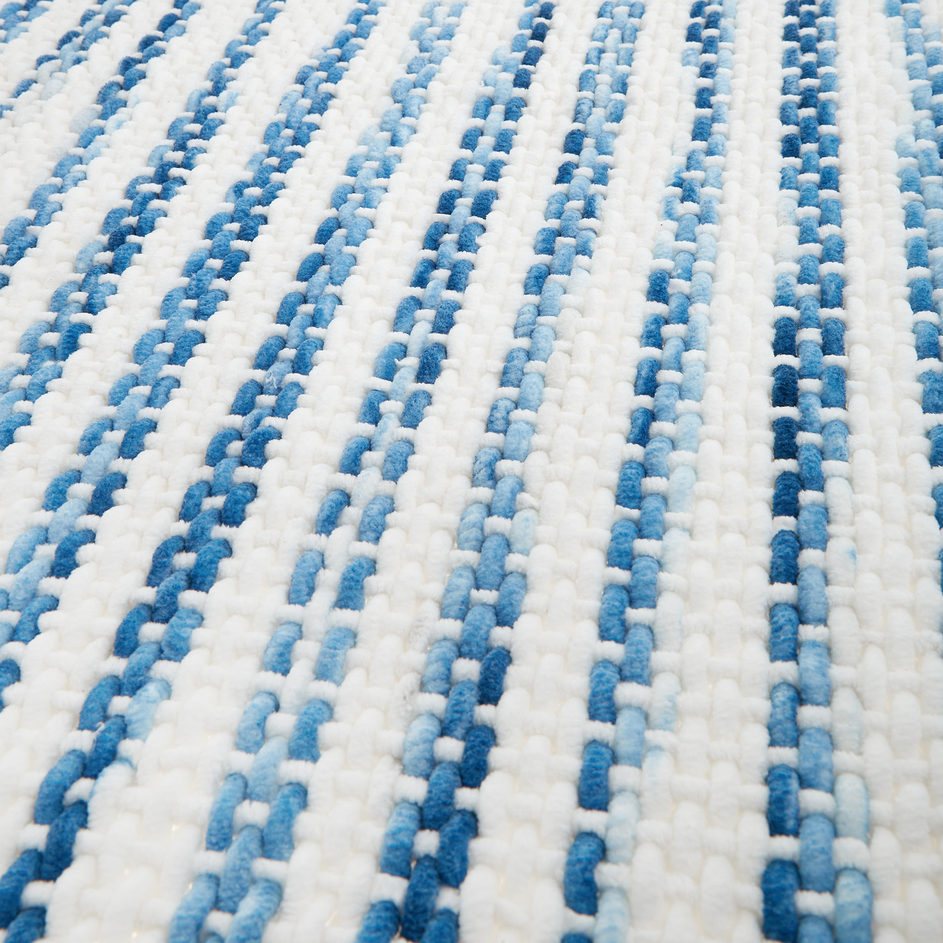 Tappeto misto cotone intrecciato, Blu, large image number 1