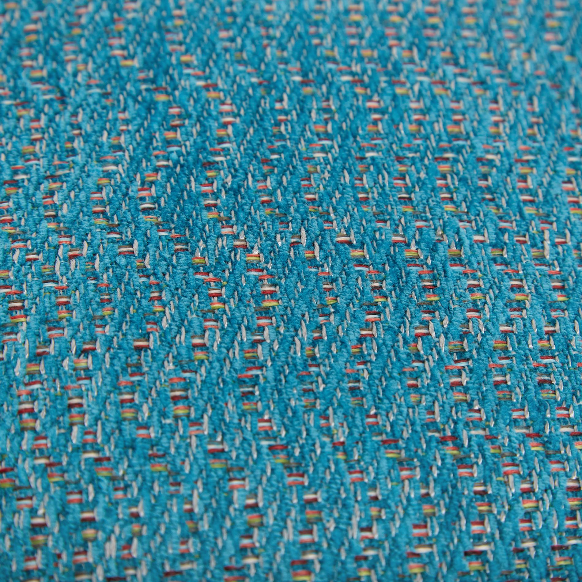 Cuscino jacquard motivo geometrico 43x43cm, Verde acqua, large image number 3