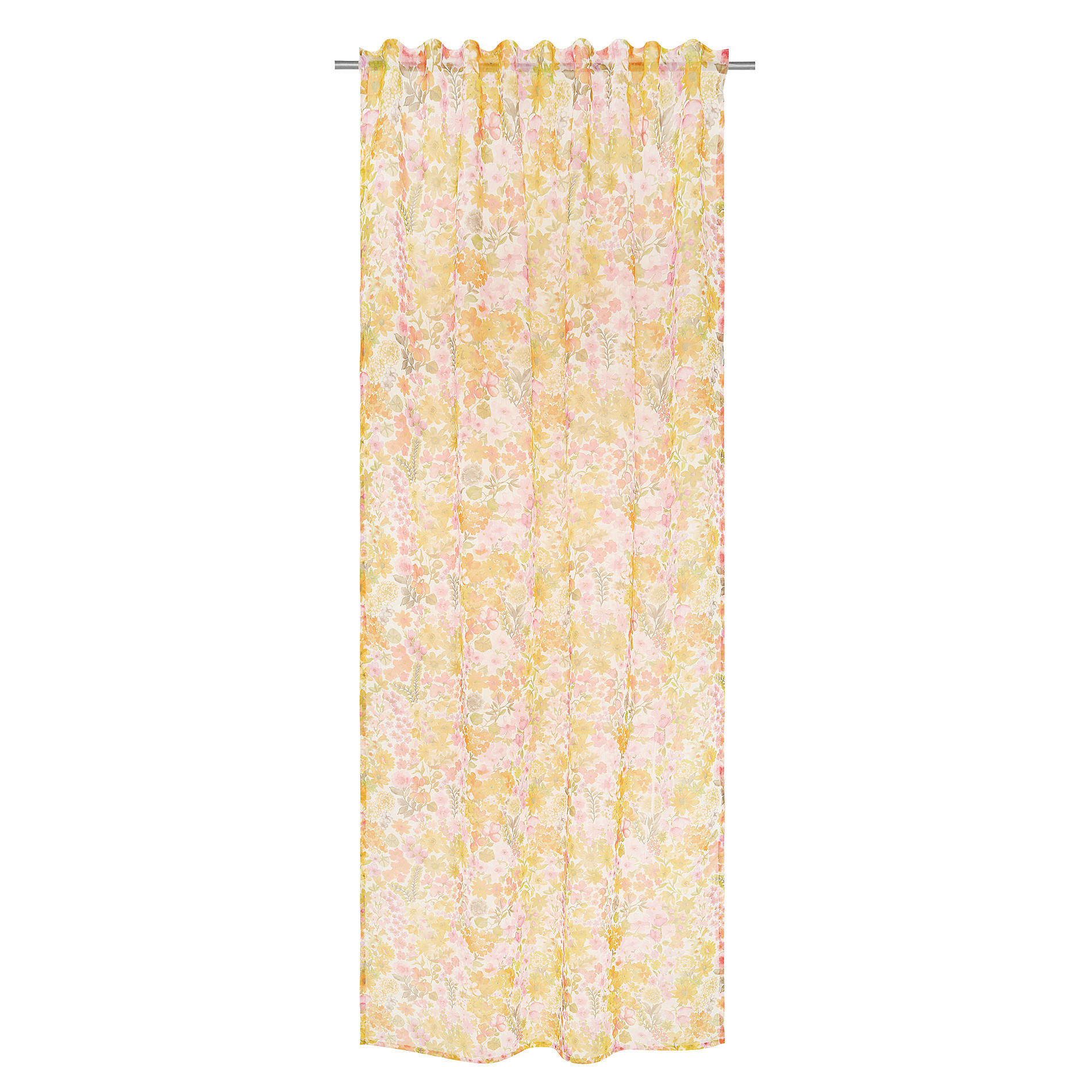 Tenda stampa floreale passanti nascosti, Multicolor, large image number 1
