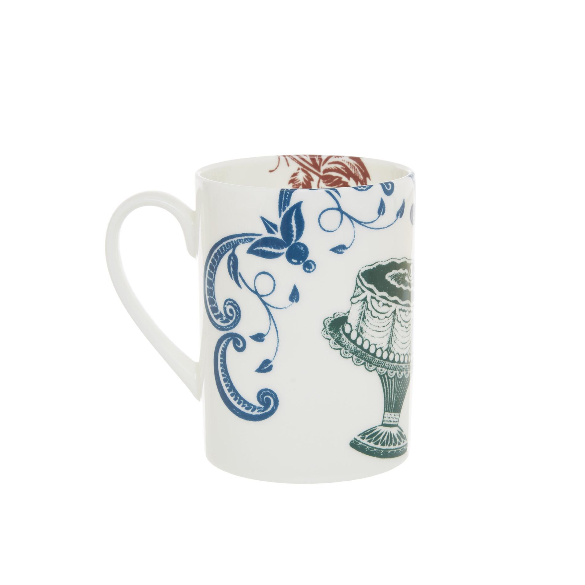Mug fine bone china decoro vintage La Cucina Italiana, Bianco, large image number 1