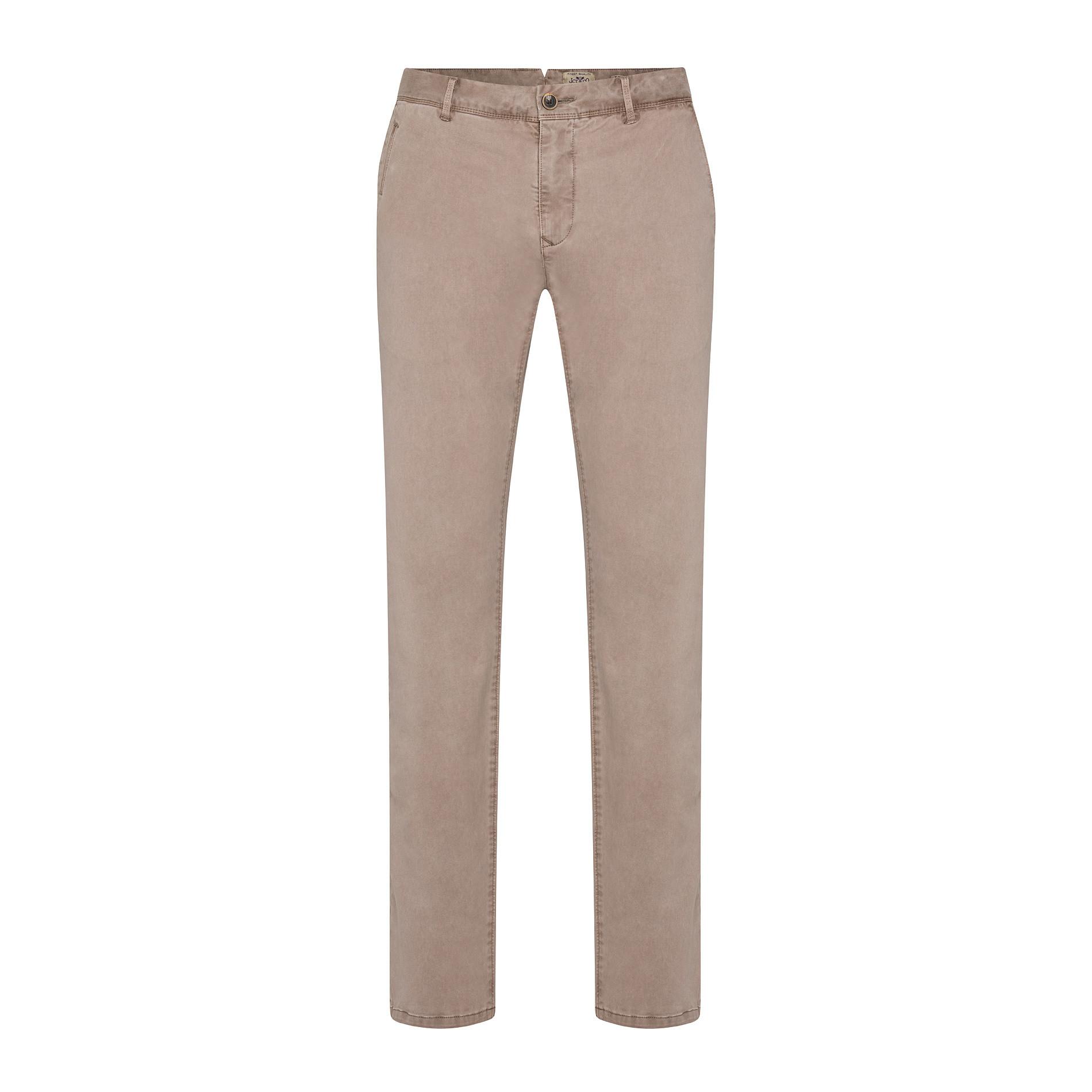 Pantaloni chino in tessuto stretch, Beige, large image number 0