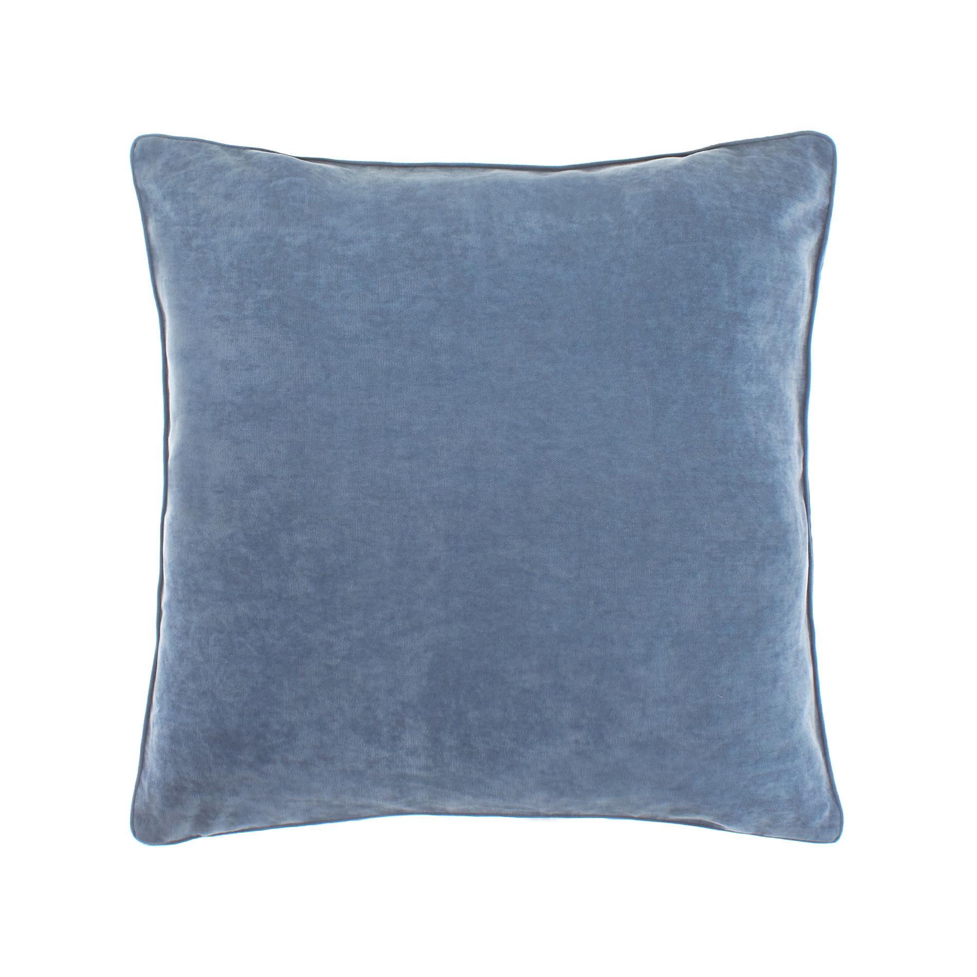 Cuscino melange tinta unita, Blu avio, large image number 0