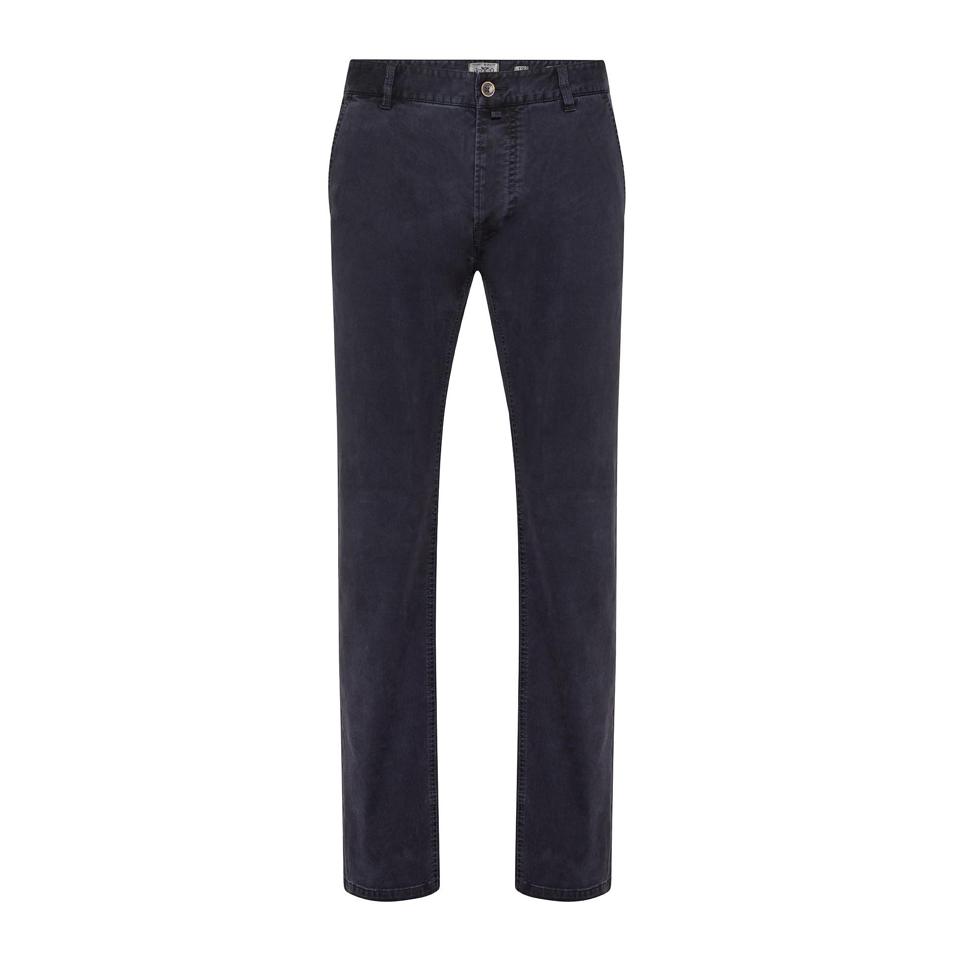Pantaloni chino in tessuto stretch, Blu scuro, large image number 1