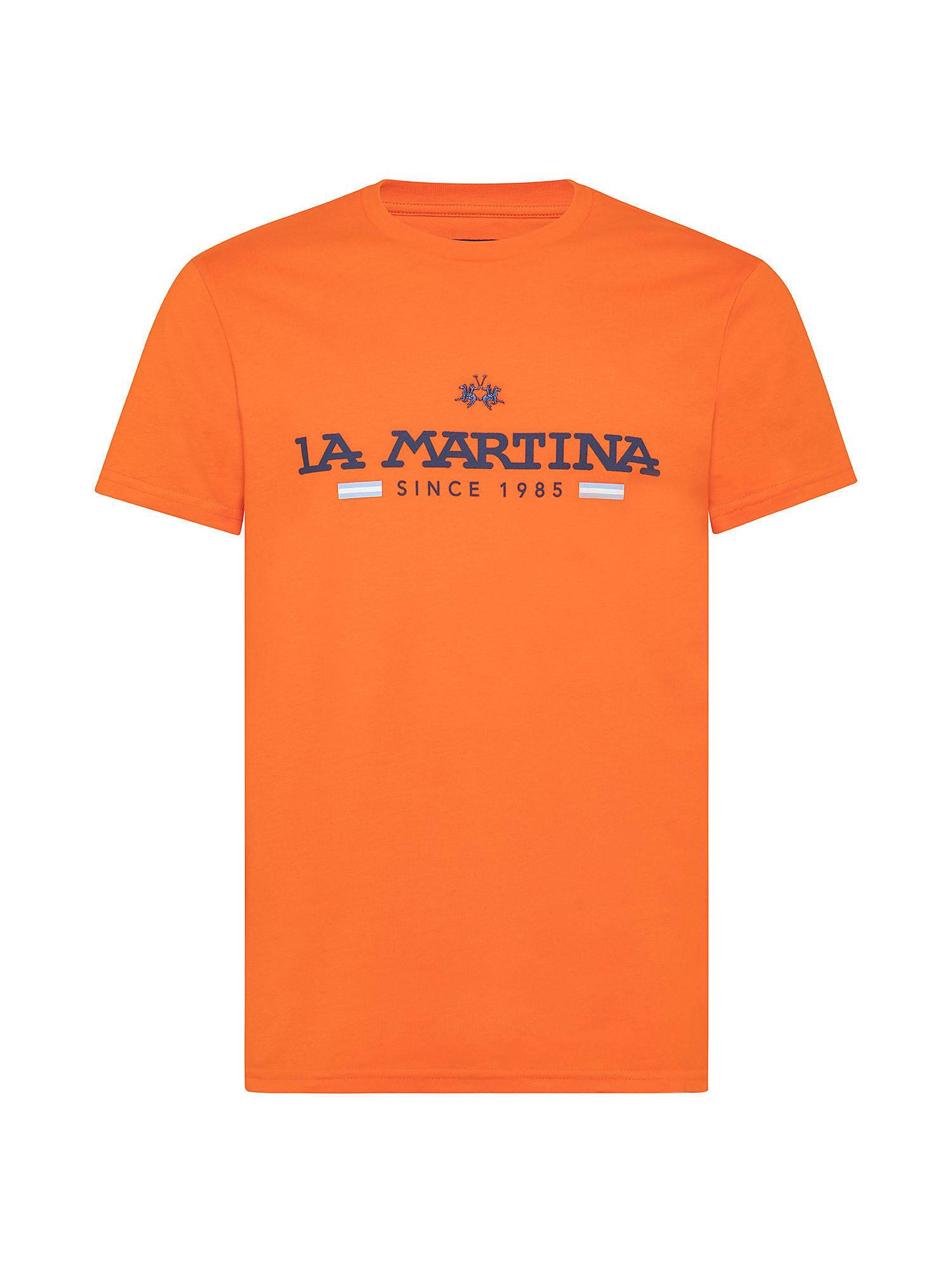 T-shirt da uomo in cotone 100% regular fit, Arancione, large image number 0