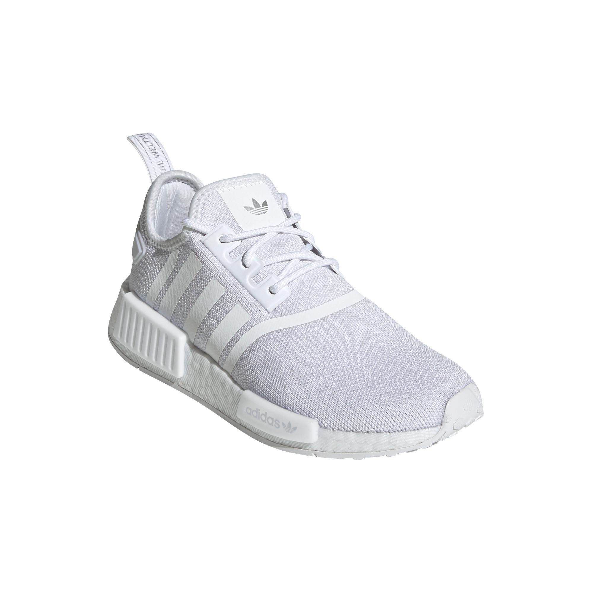 Scarpe donna Adidas Originals NMD_R1 Primeblue, Bianco/Grigio, large image number 0