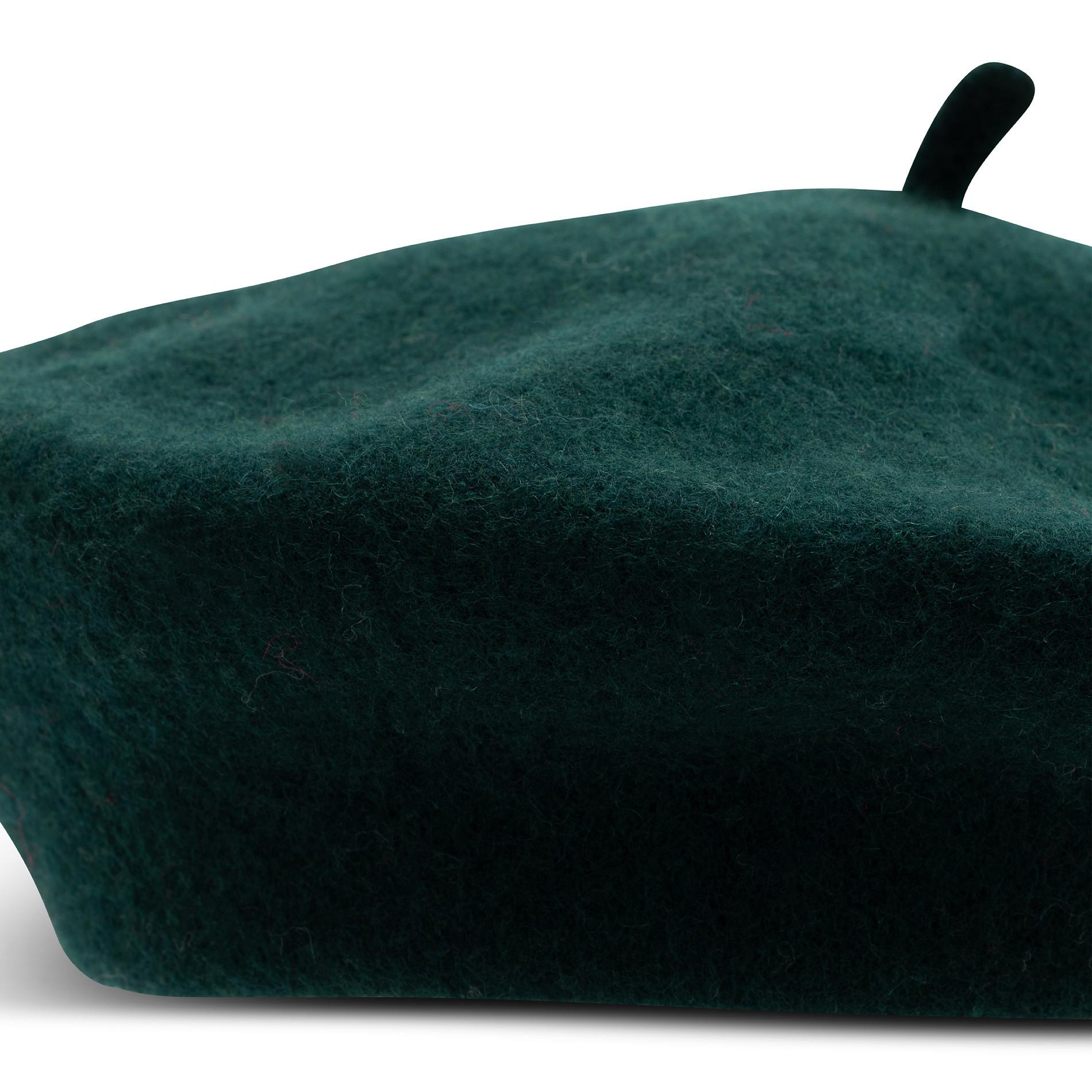 Basco pura lana tinta unita Koan, Verde scuro, large image number 1