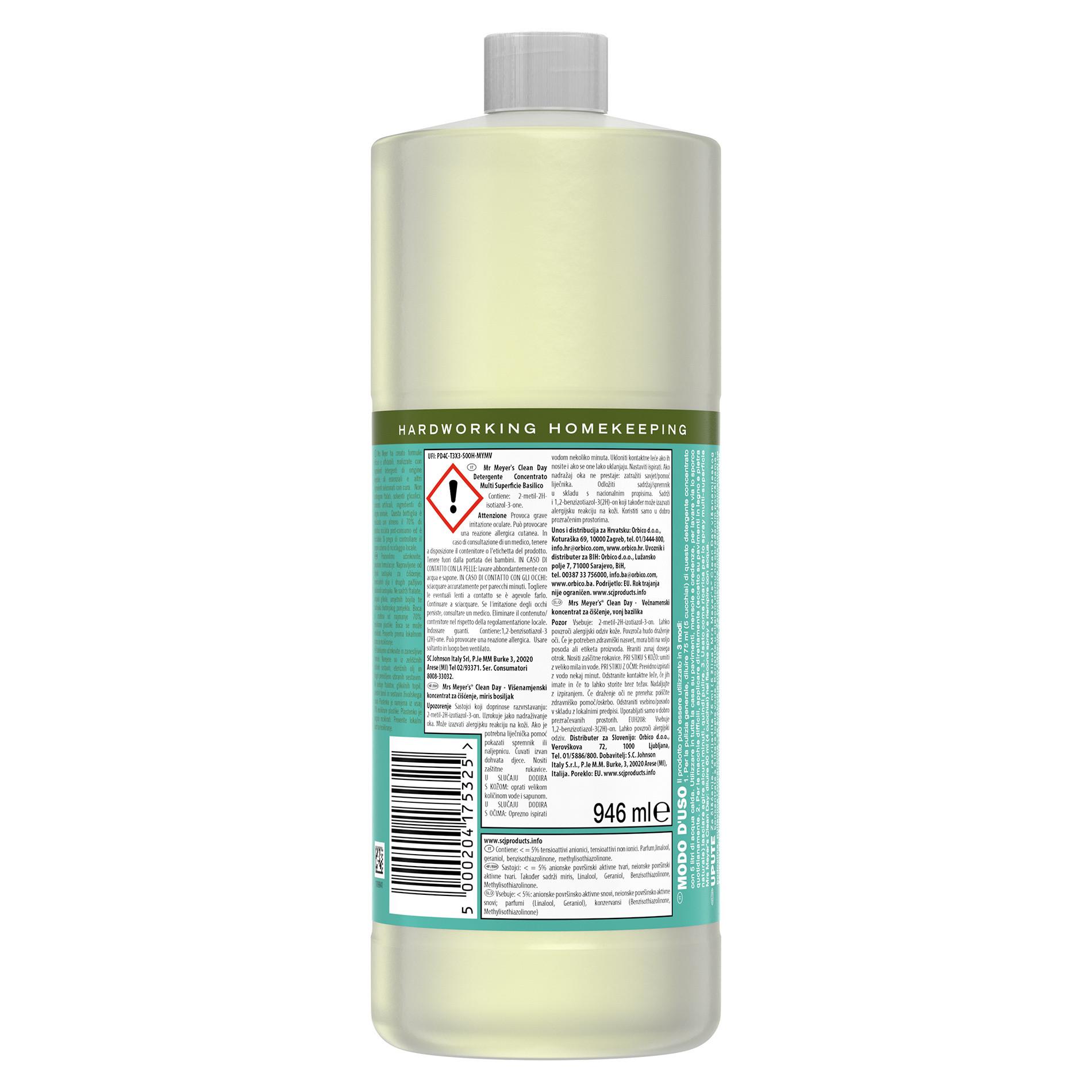 Detergente concentrato multi-supericie profumo di basilico 946ml, Verde smeraldo, large image number 1