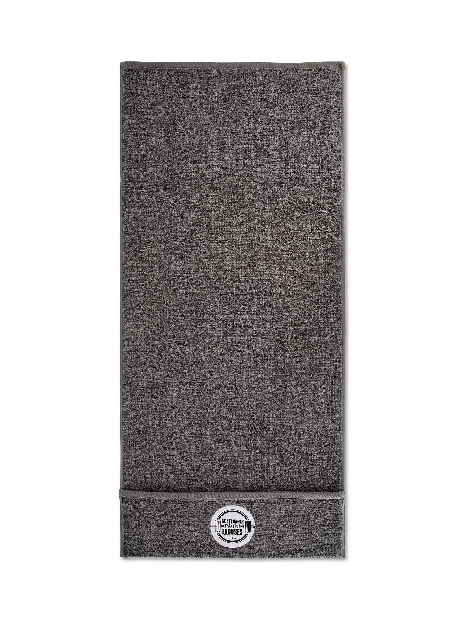 Asciugamano da palestra e fitness, Grigio, large image number 1