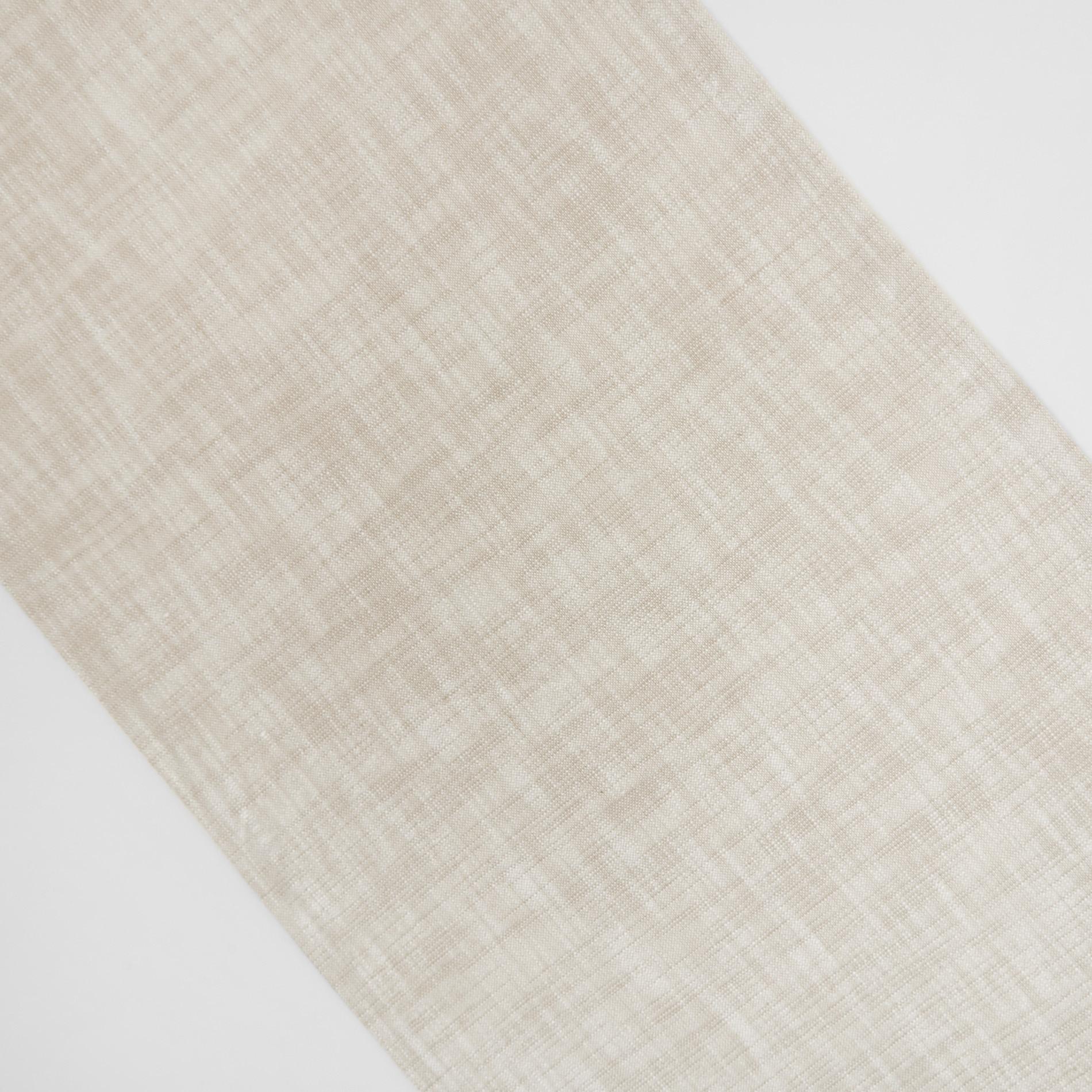 Runner puro cotone fiammato tinta unita, Beige chiaro, large image number 1