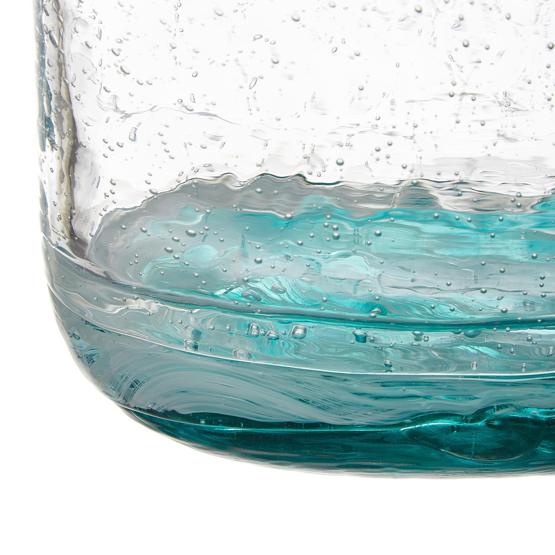 Vaso vetro colorato in pasta effetto bubble, Trasparente, large image number 1