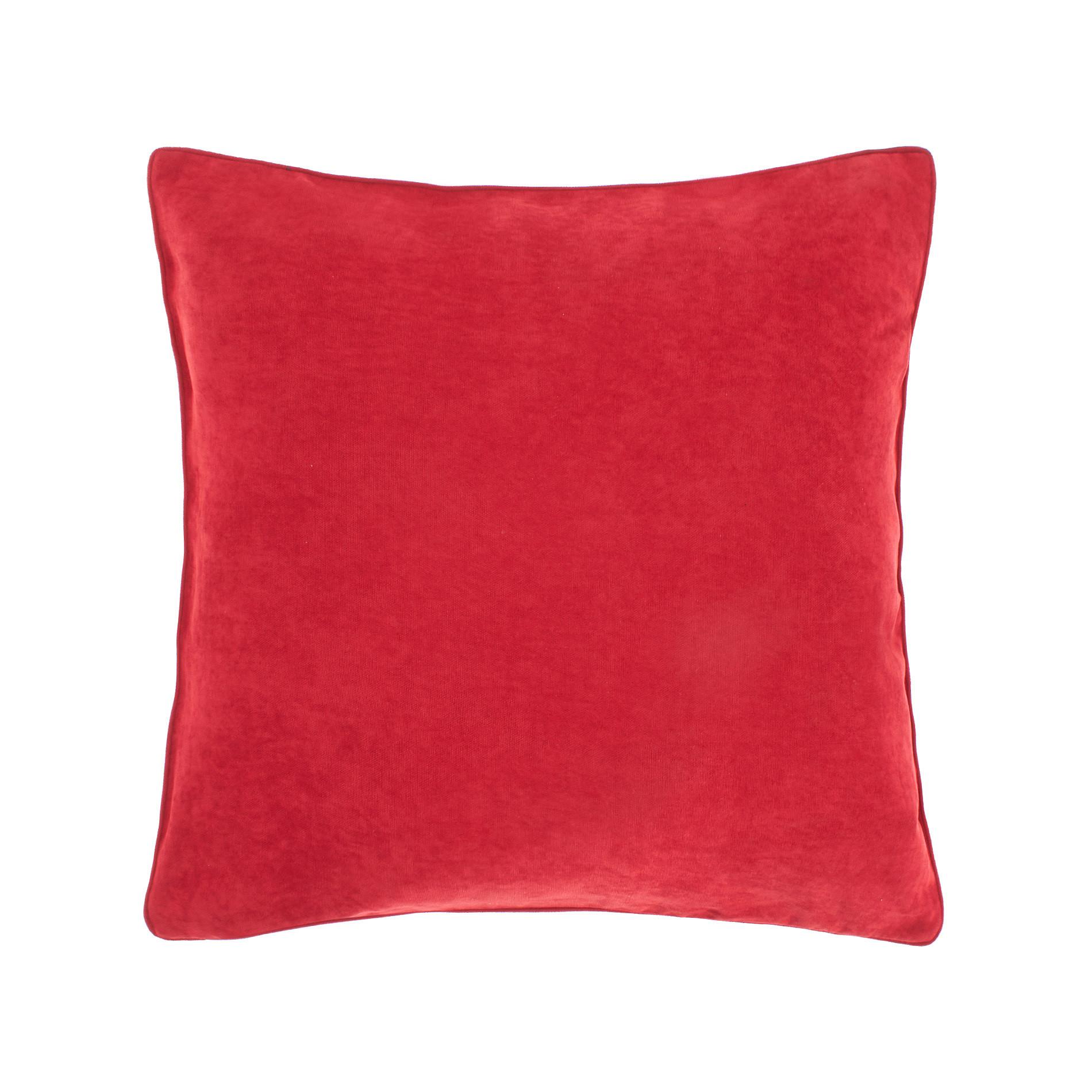 Cuscino melange tinta unita, Rosso ciliegia, large image number 0