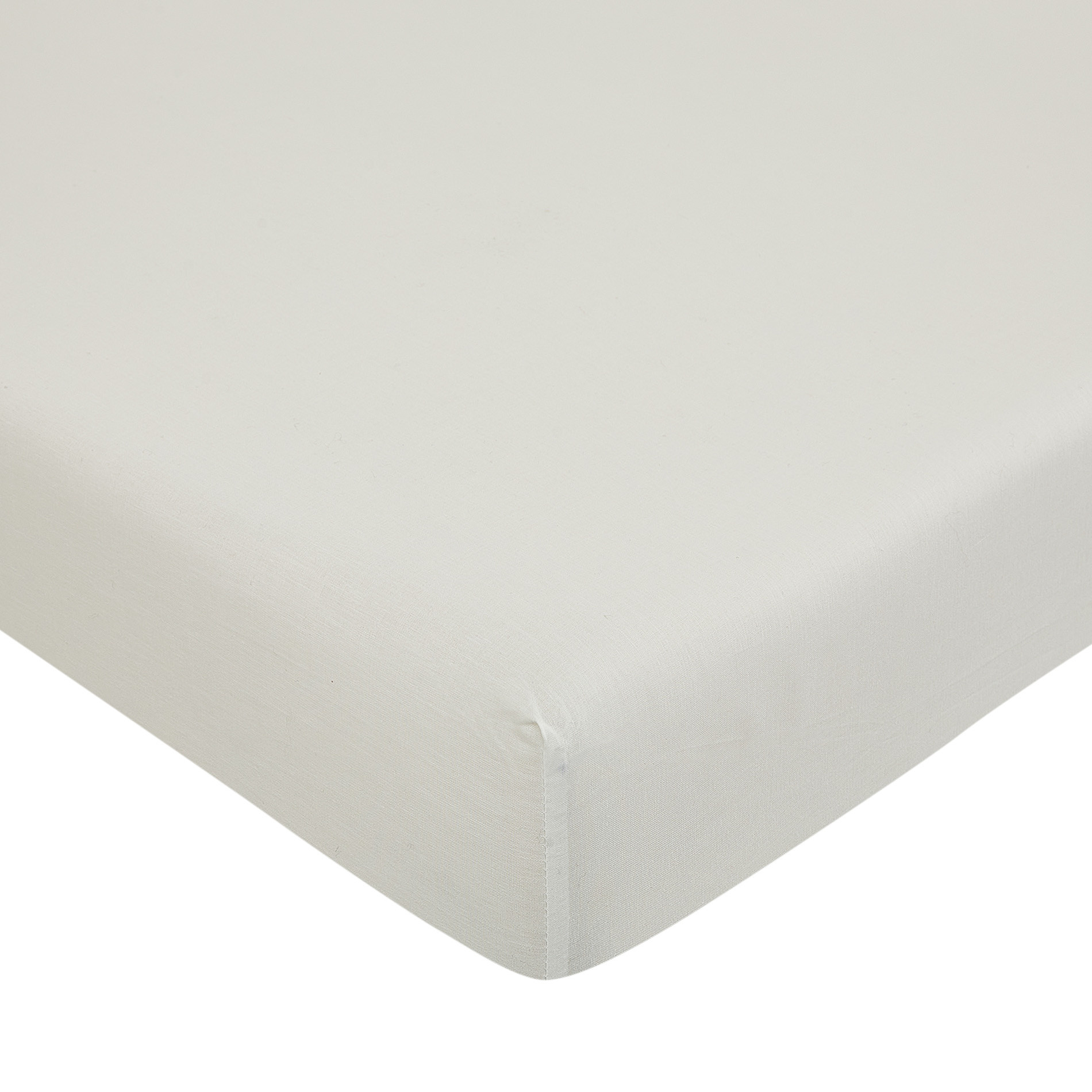 Lenzuolo con angoli puro cotone tinta unita, Bianco, large image number 0