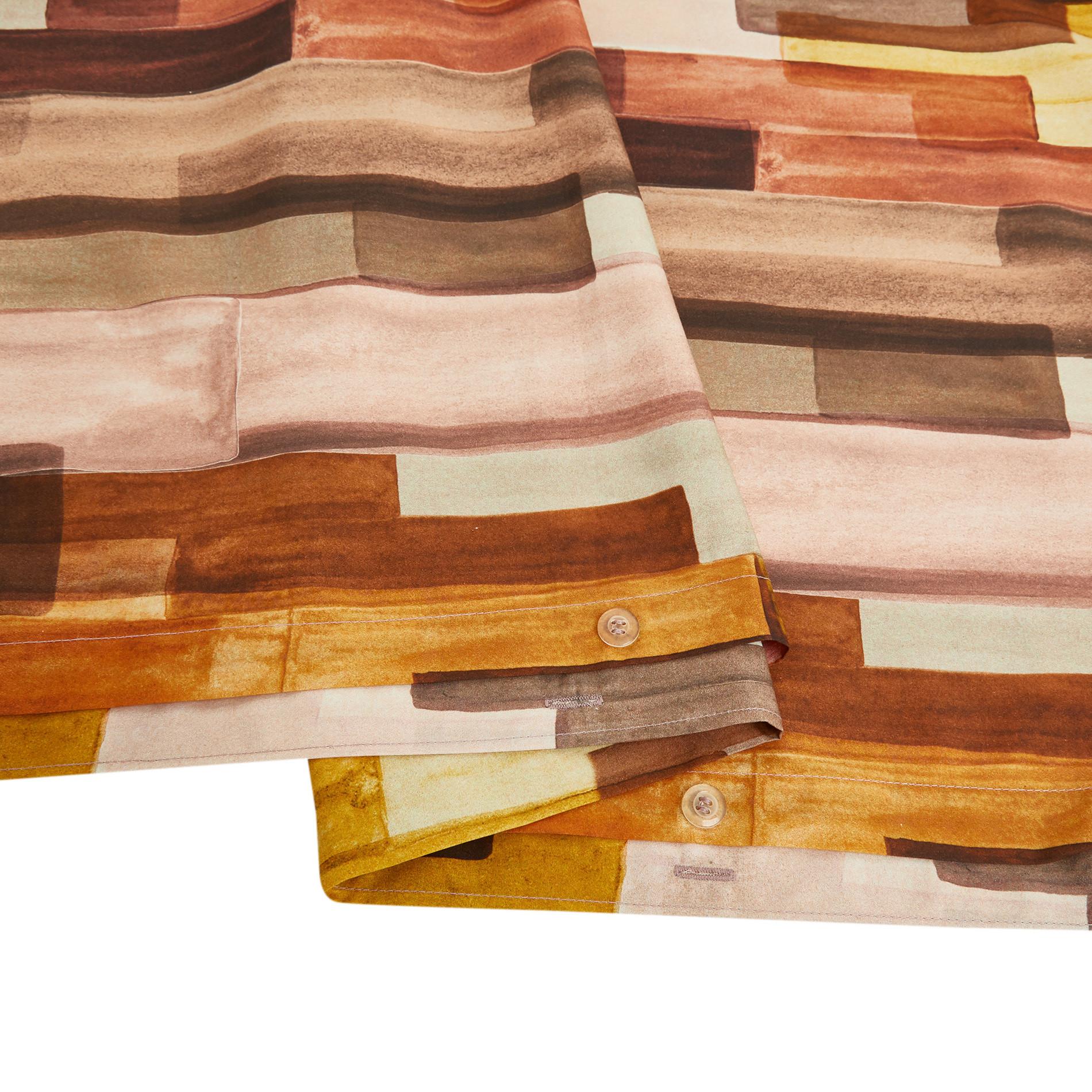 Copripiumino cotone percalle fantasia piastrella, Multicolor, large image number 3
