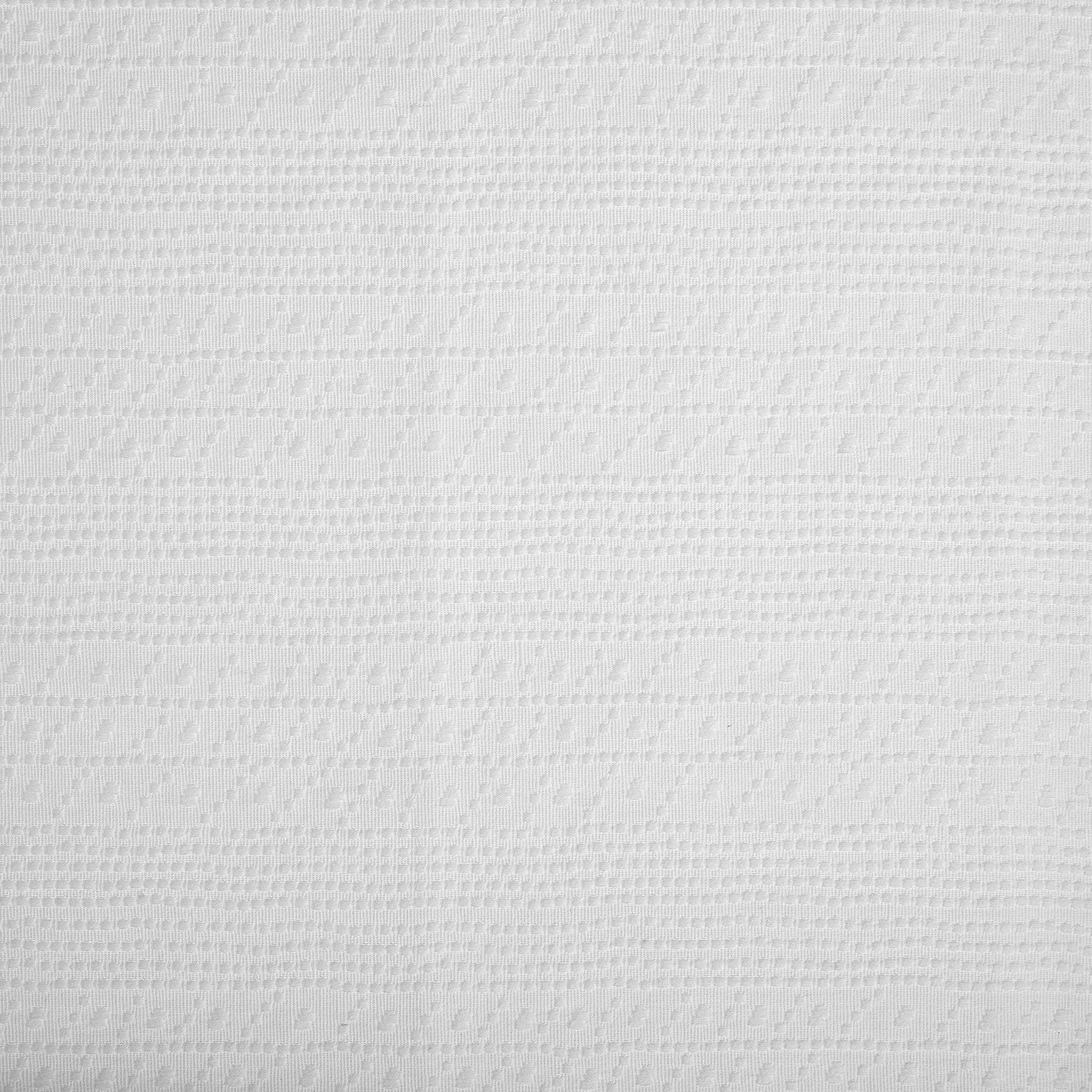 Copriletto puro cotone fantasia ornamentale, Bianco, large image number 1