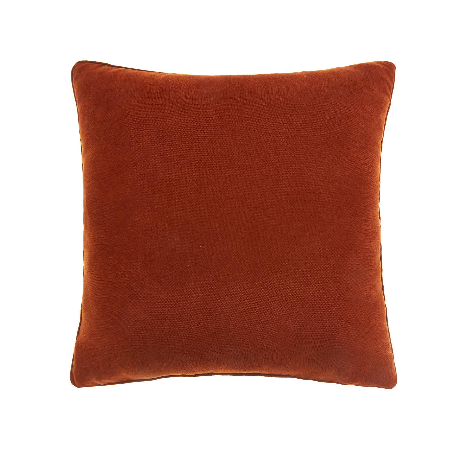 Cuscino melange tinta unita, Rosso mattone, large image number 0