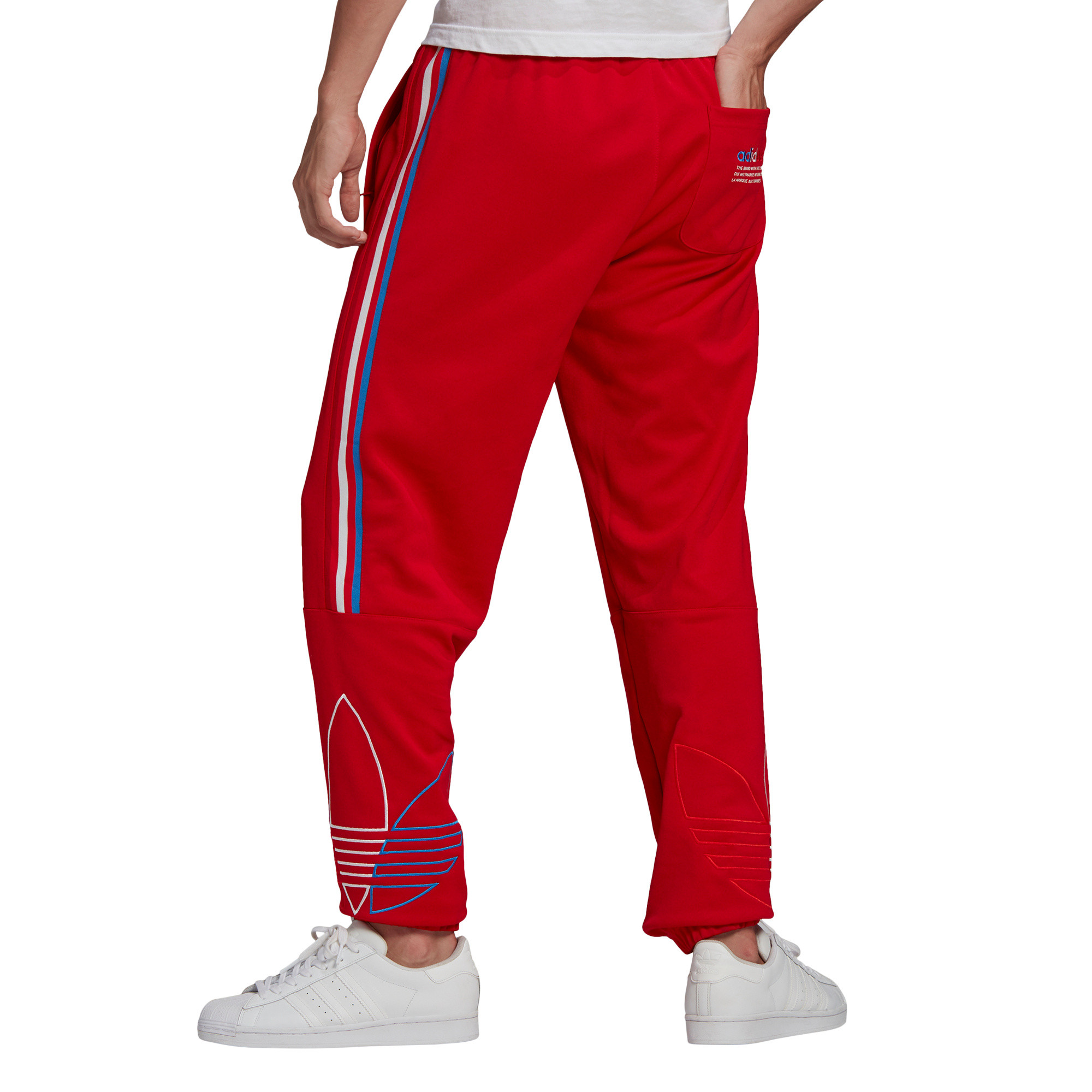 Pantaloni tuta adicolor, Rosso, large image number 2
