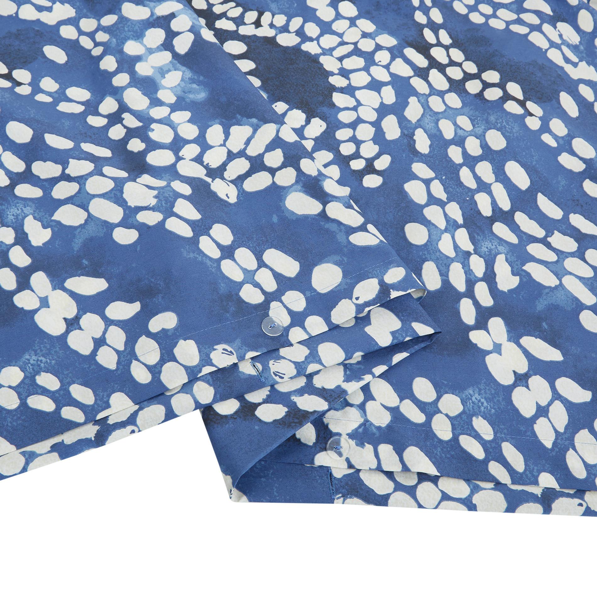 Copripiumino cotone percalle fantasia a puntini, Blu, large image number 3