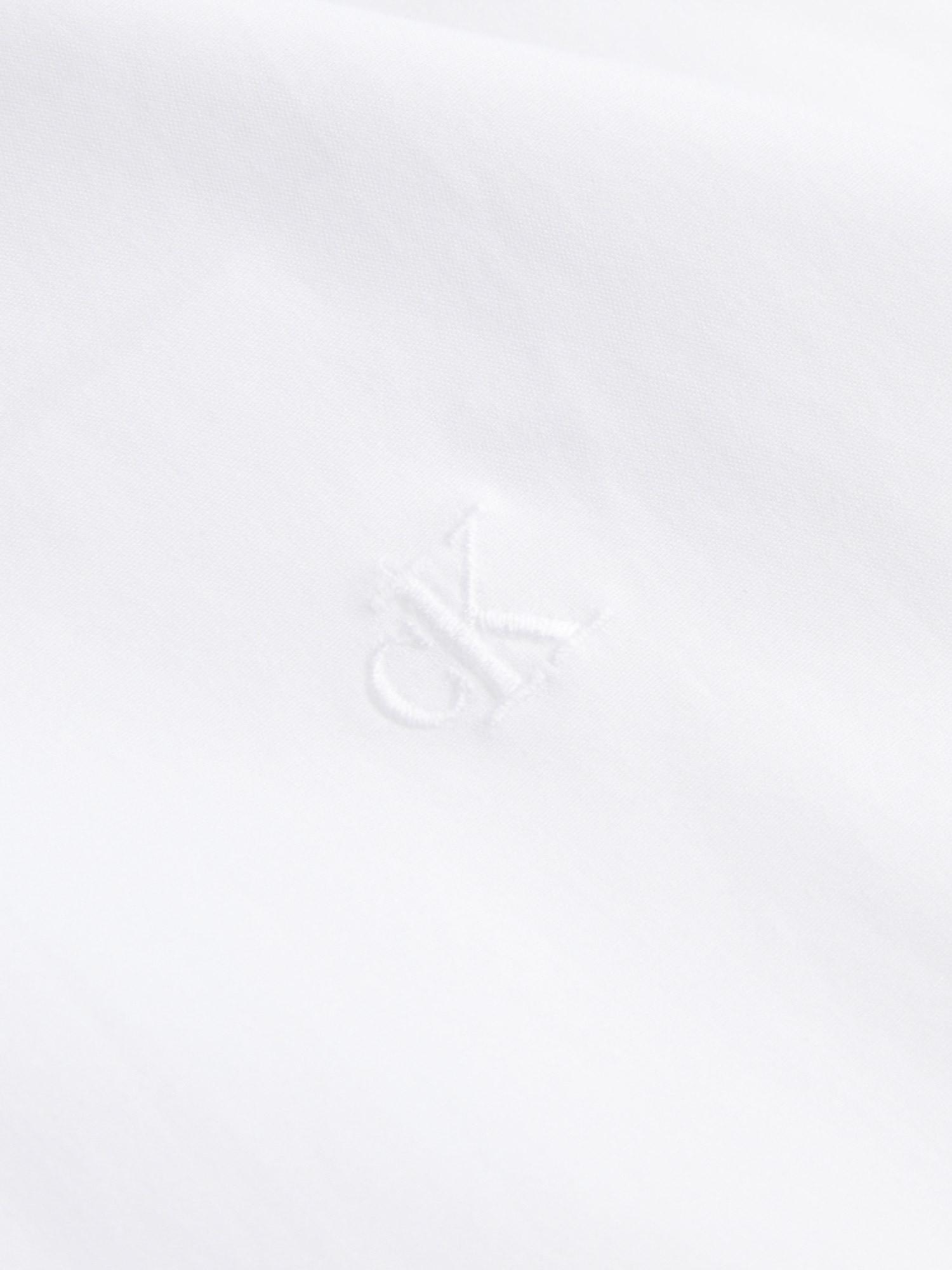 Camicia in cotone elasticizzato, Bianco, large image number 4
