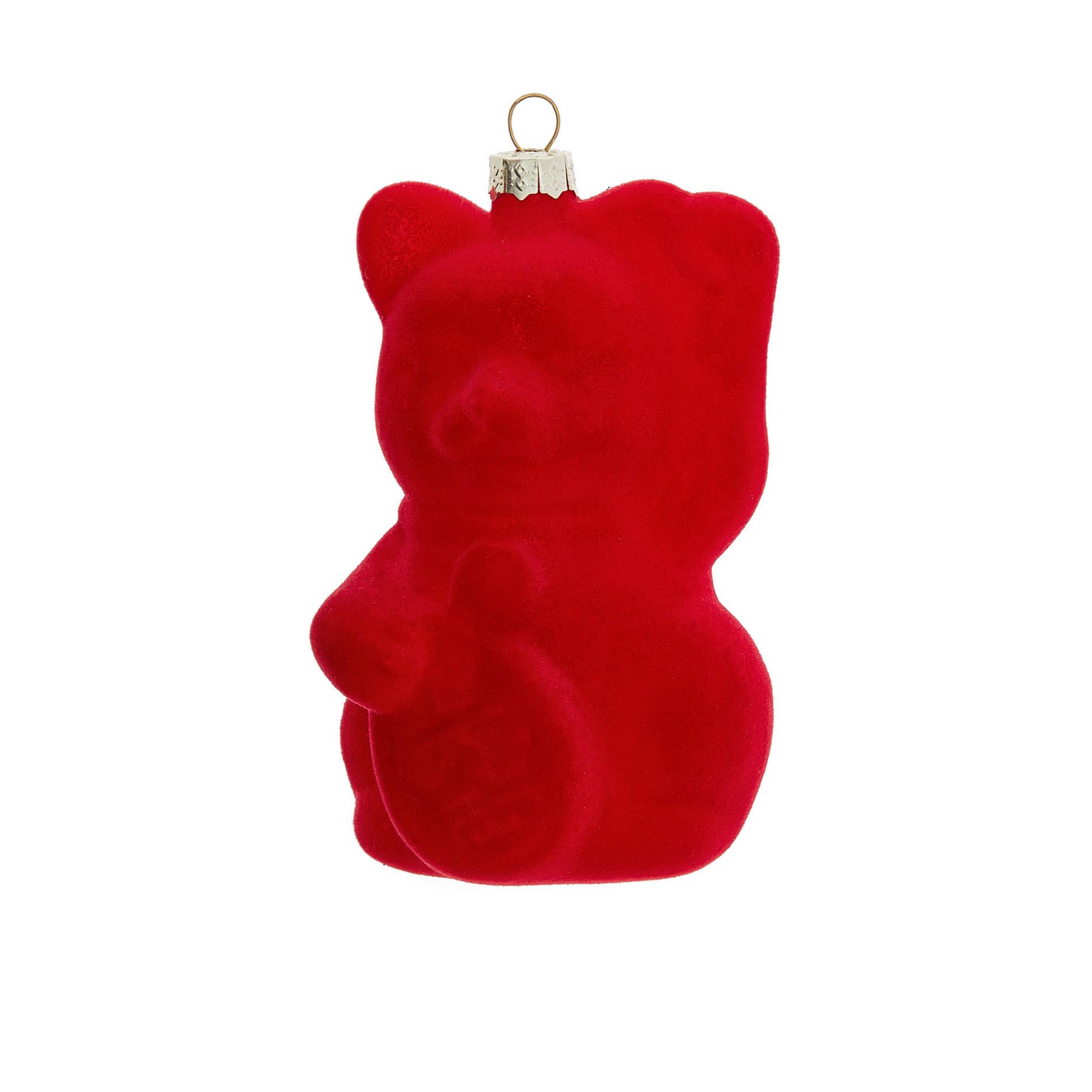 Addobbo gatto decorato a mano, Rosso, large image number 0