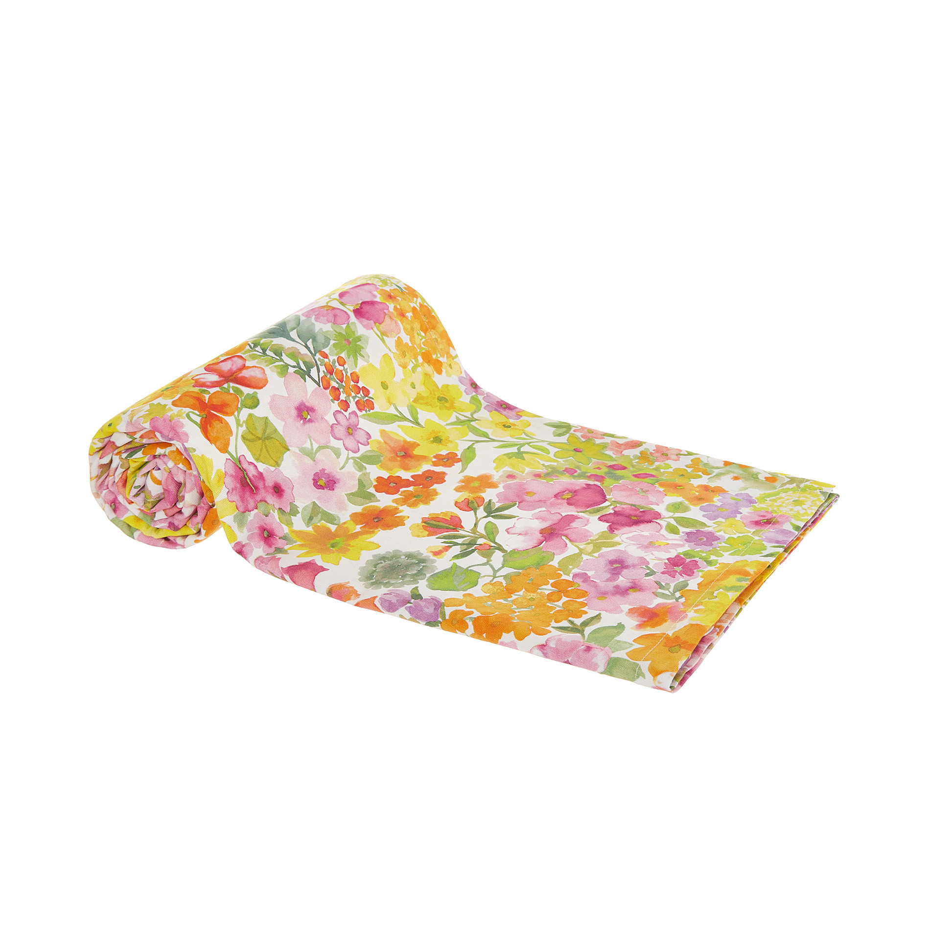 Telo arredo cotone motivo floreale, Multicolor, large image number 0