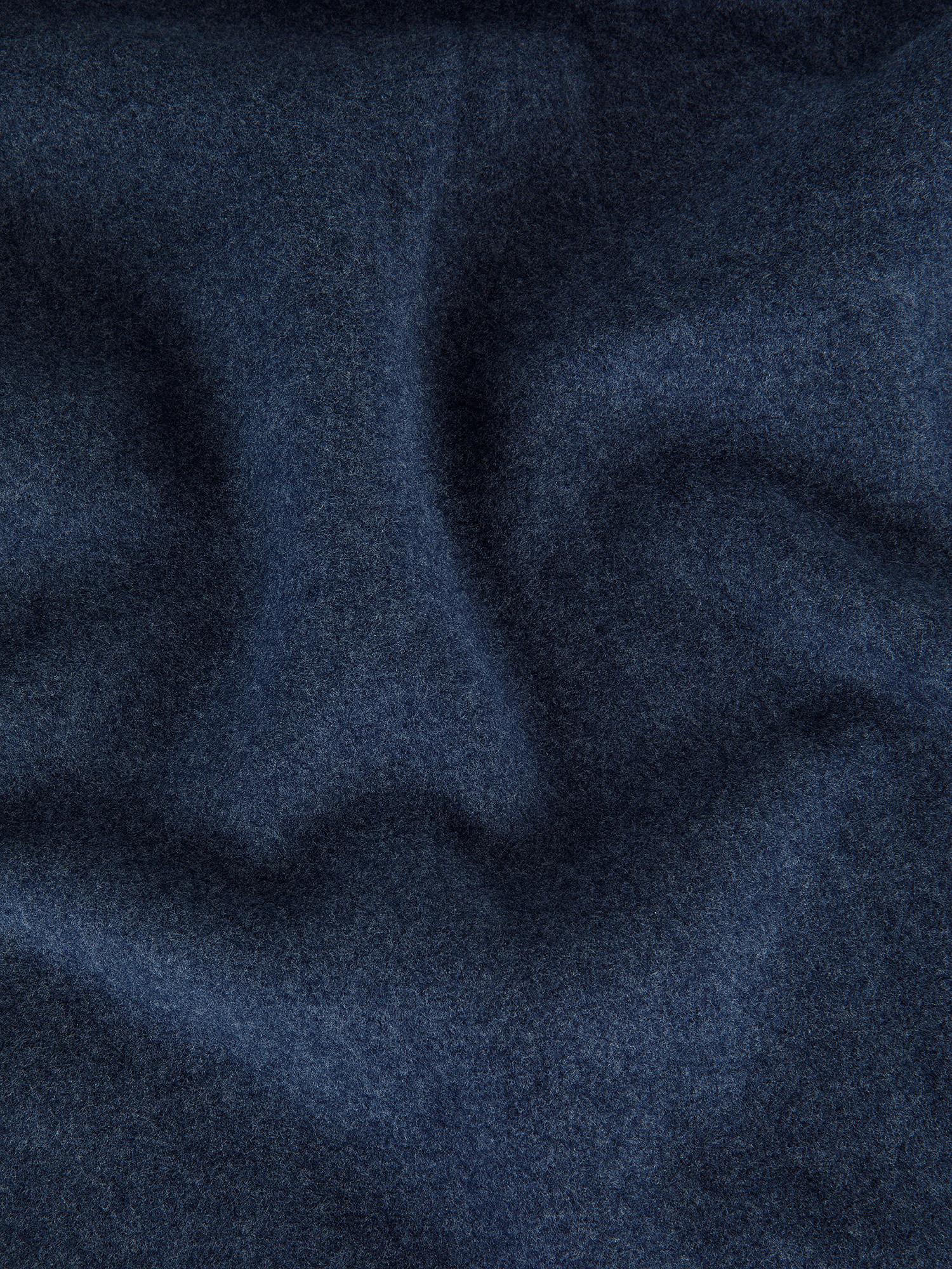Plaid morbido pile tinta unita, Blu, large image number 1