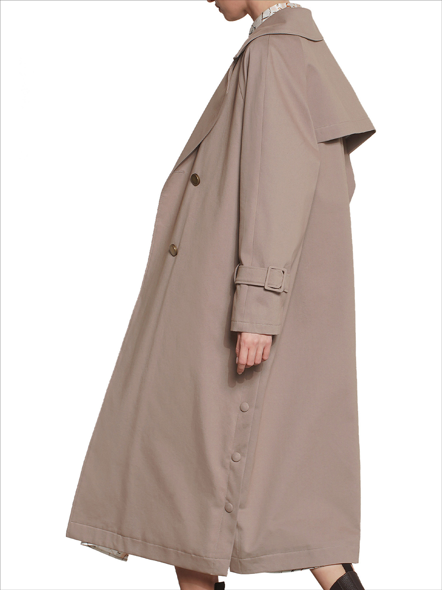 Trench oversize, Beige, large image number 2