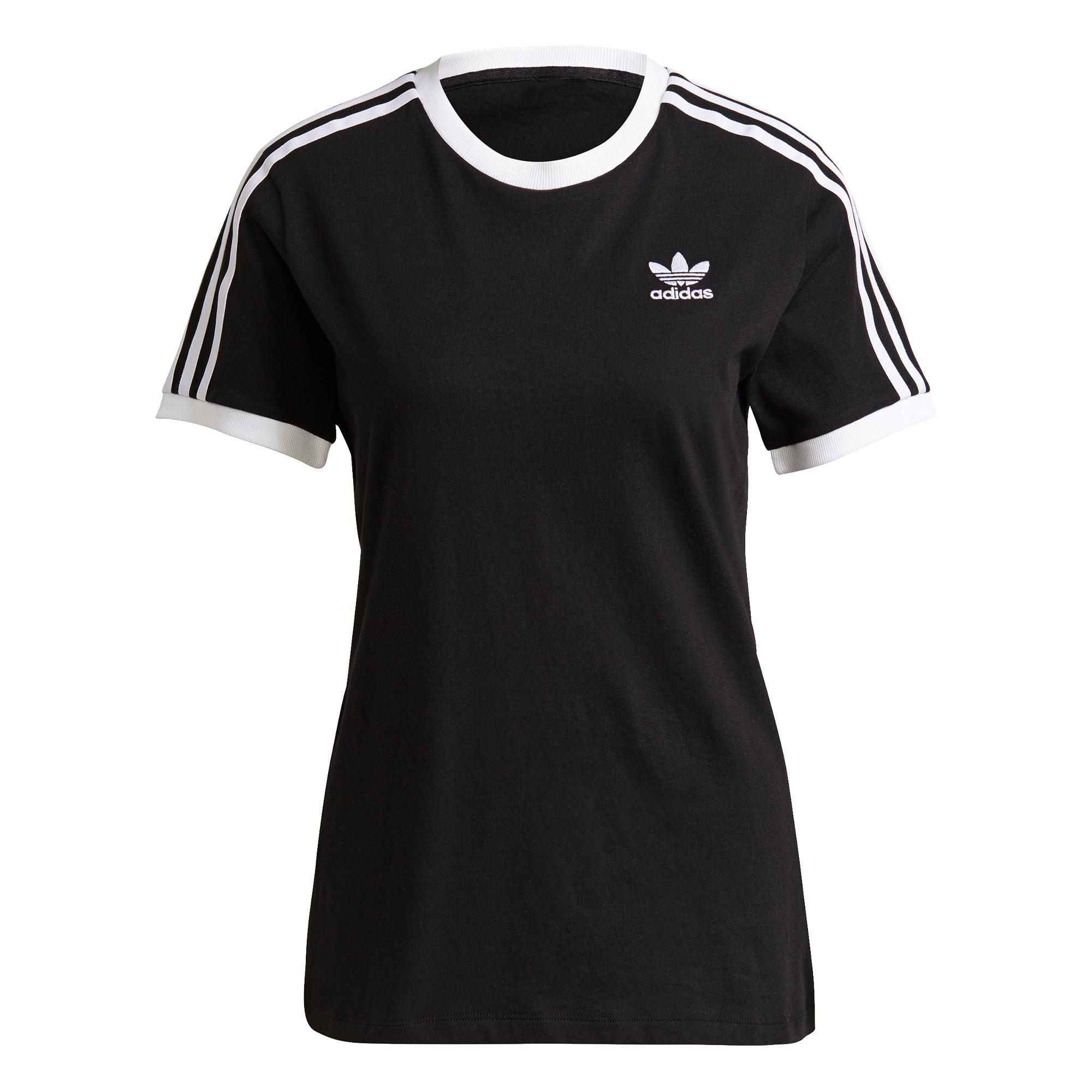 T-shirt adicolor Classics 3-stripes, Nero, large image number 0