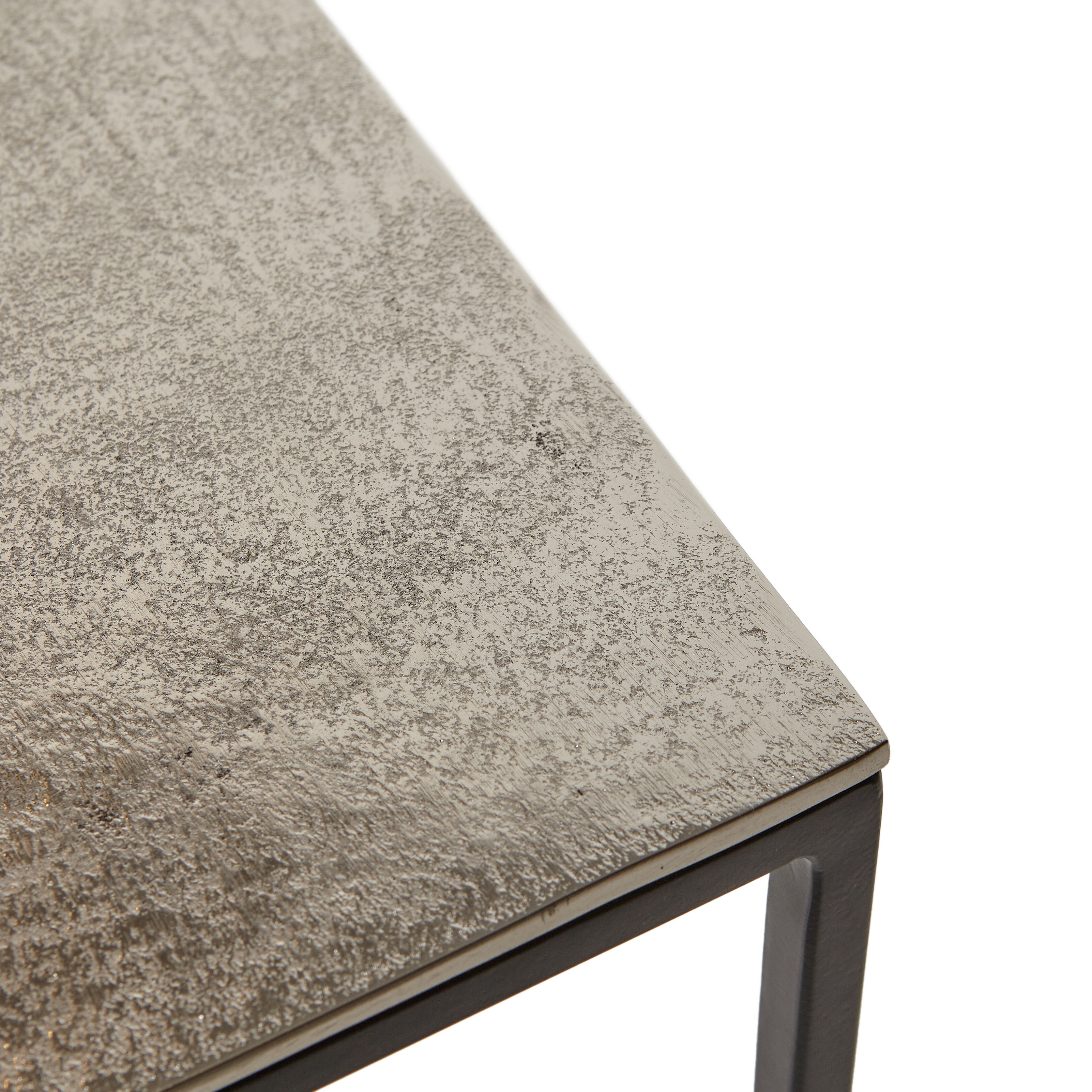 Consolle in alluminio e ferro Consuelo, Grigio argento, large image number 2