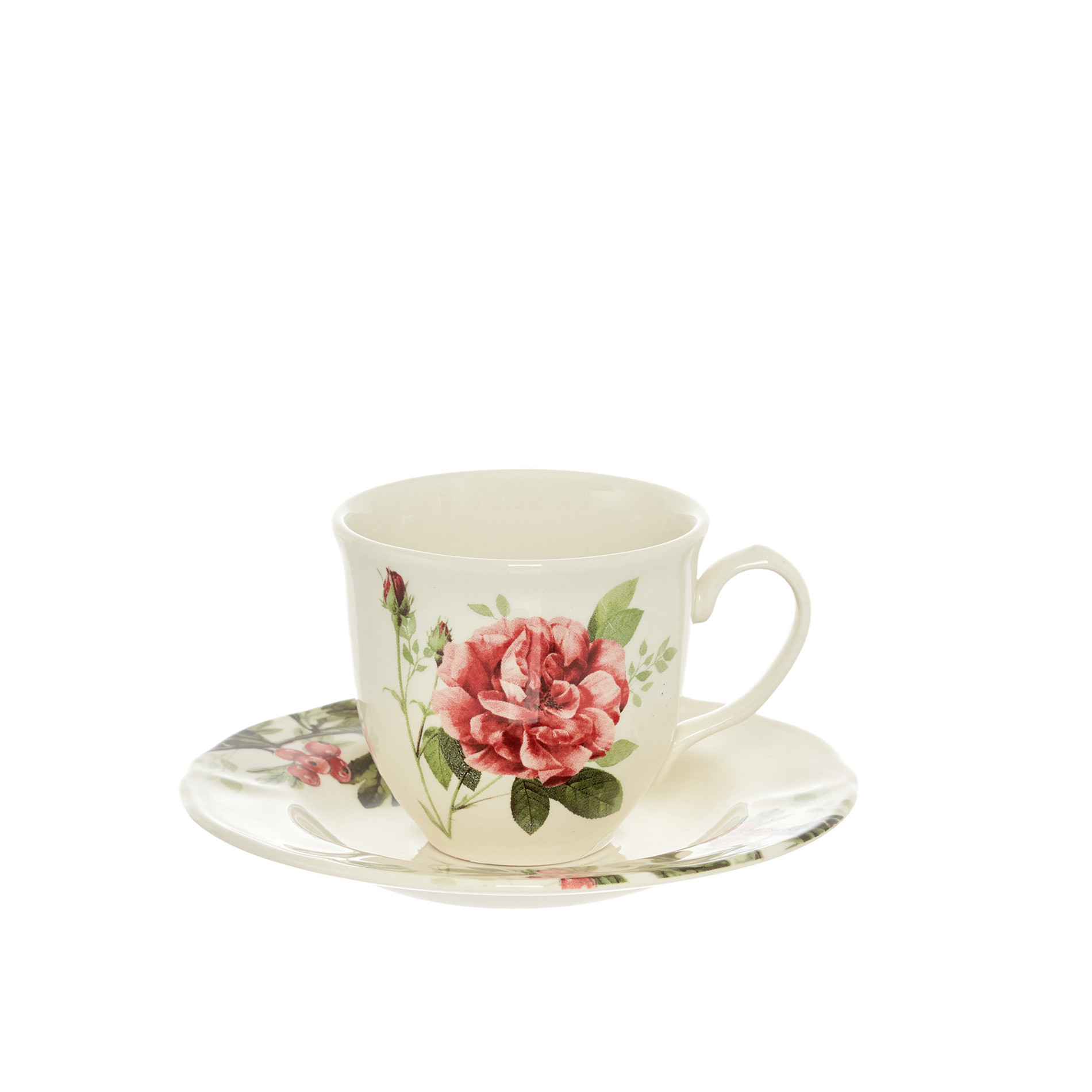 Tazza tè ceramica Rosemary, Bianco, large image number 0
