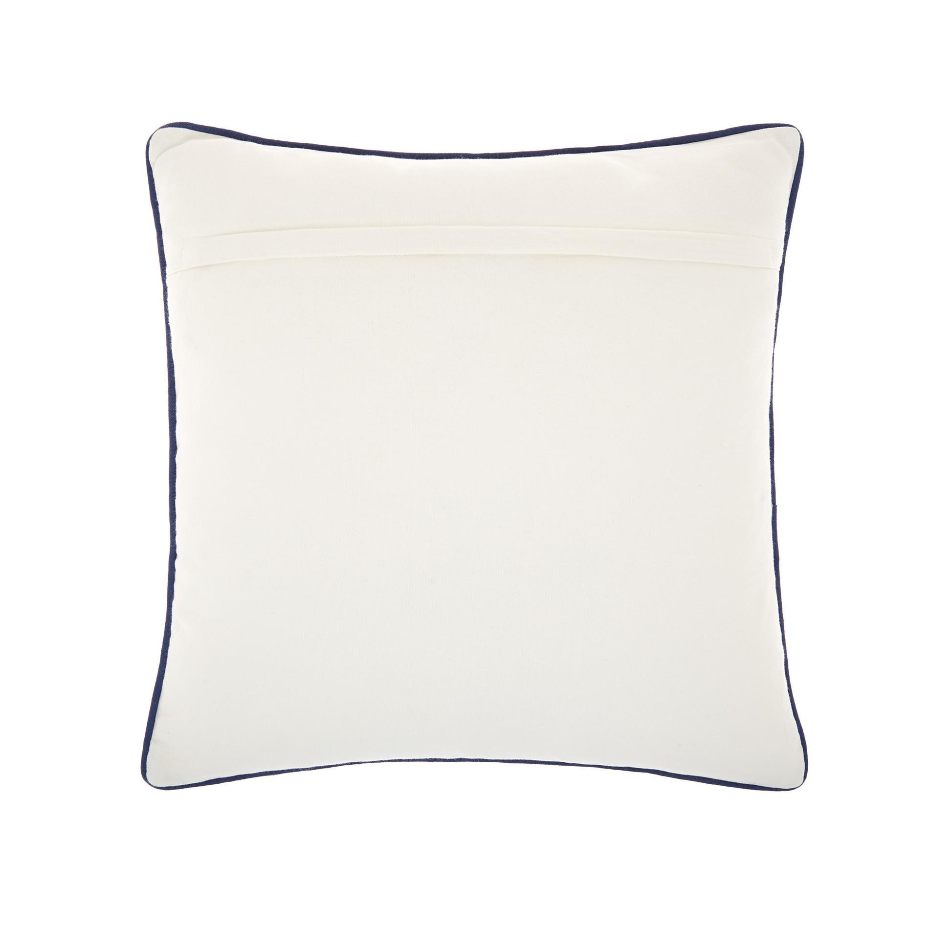 Cuscino ricamo pesci 45x45cm, Bianco, large image number 1