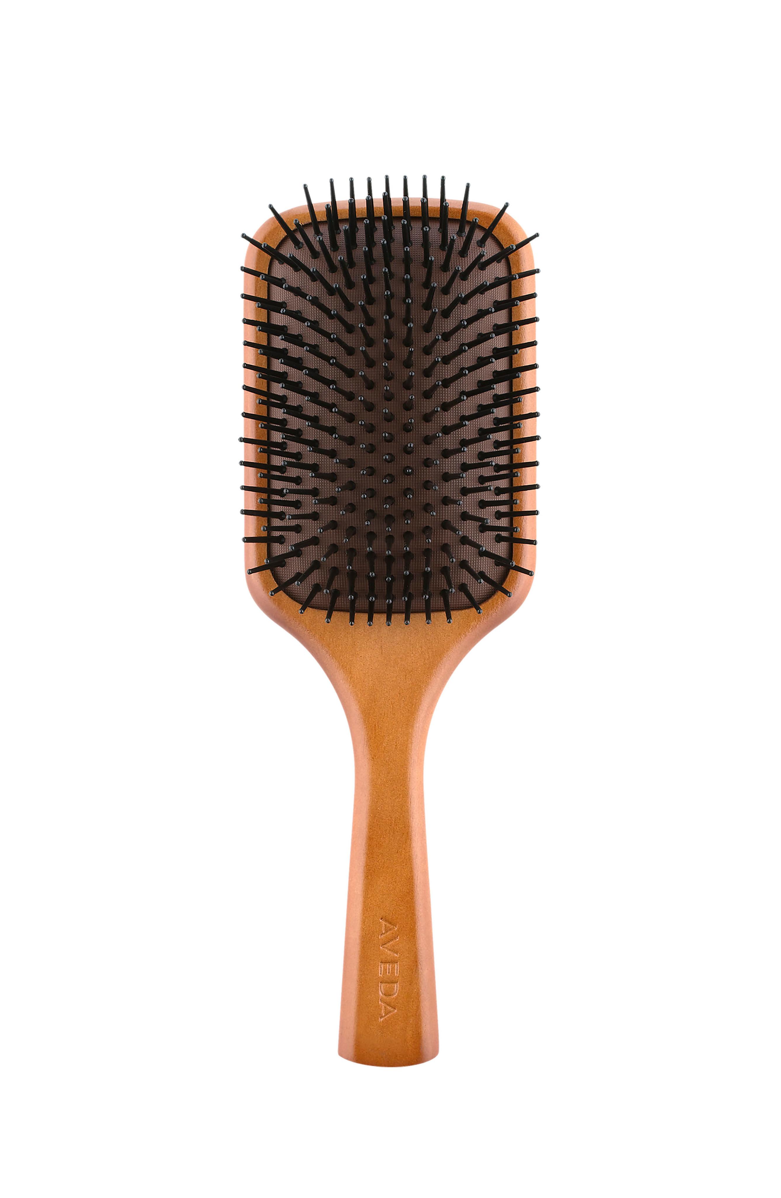 Aveda spazzola in legno quadrata, Marrone, large image number 0