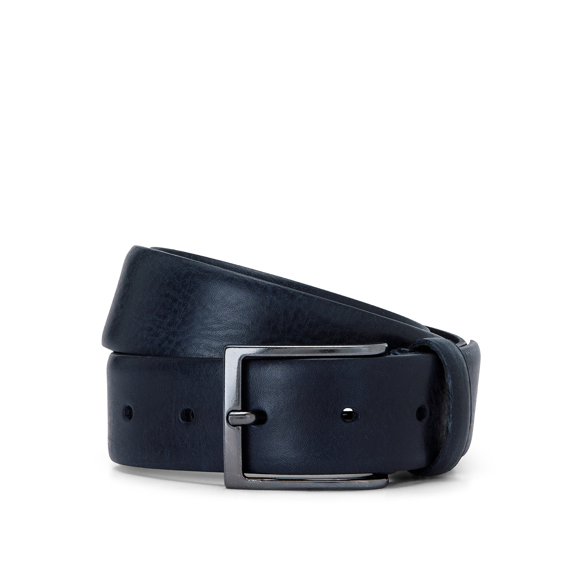 Cintura vera pelle Luca D'Altieri, Blu scuro, large image number 1