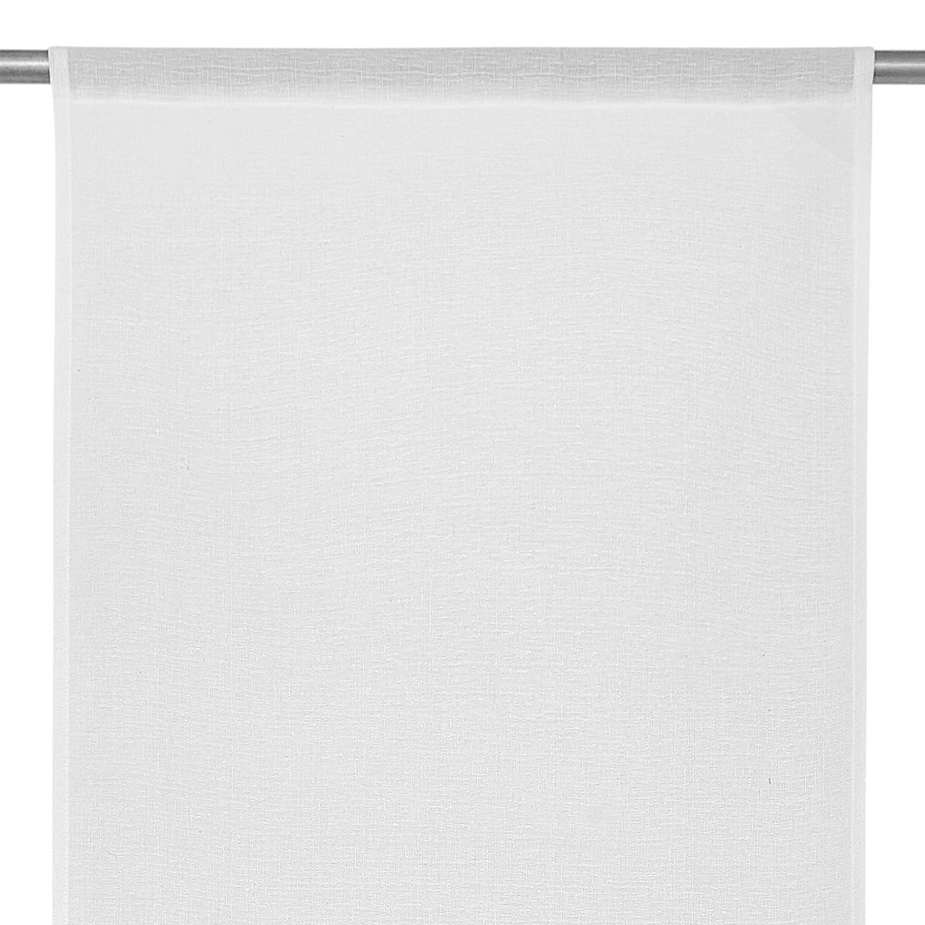 Tendina effetto fiammato tinta unita, Bianco, large image number 2