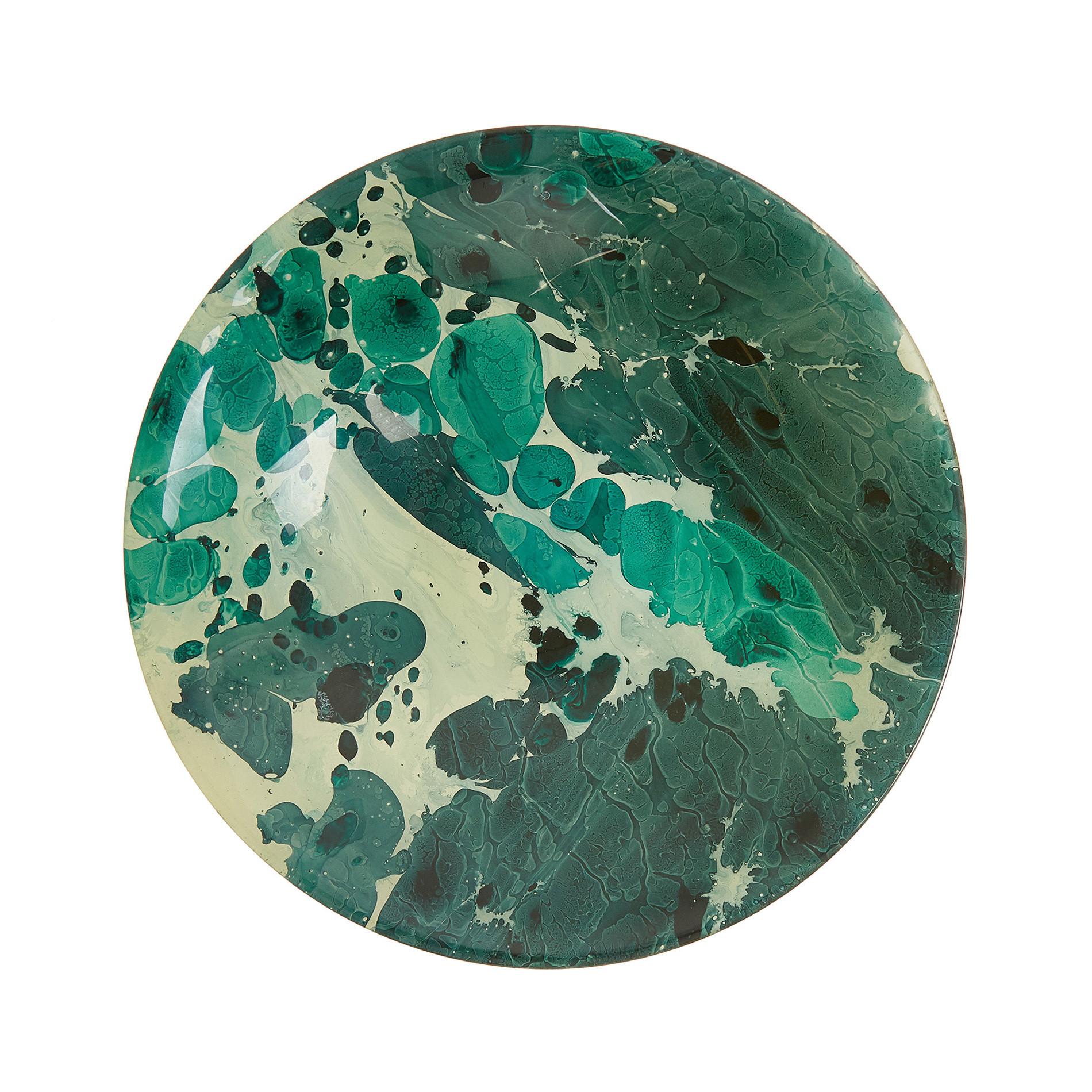 Coppa vetro spruzzato, Verde scuro, large image number 1