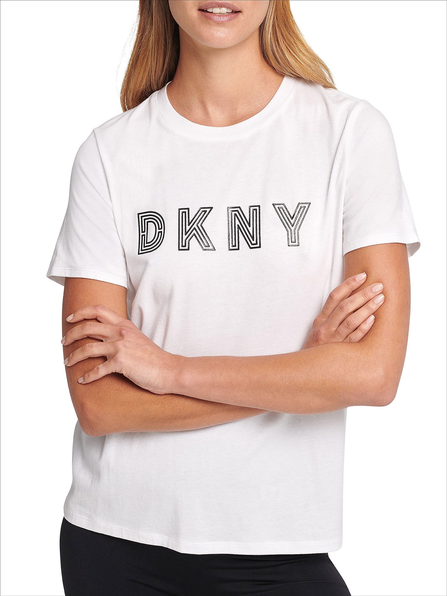 T-shirt track logo a maniche corte, Bianco, large image number 5