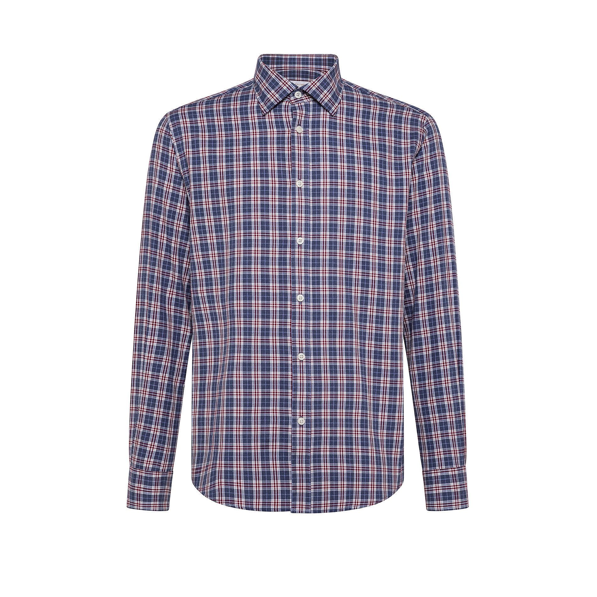 Camicia button-down tailor fit in cotone organico, Blu, large image number 0