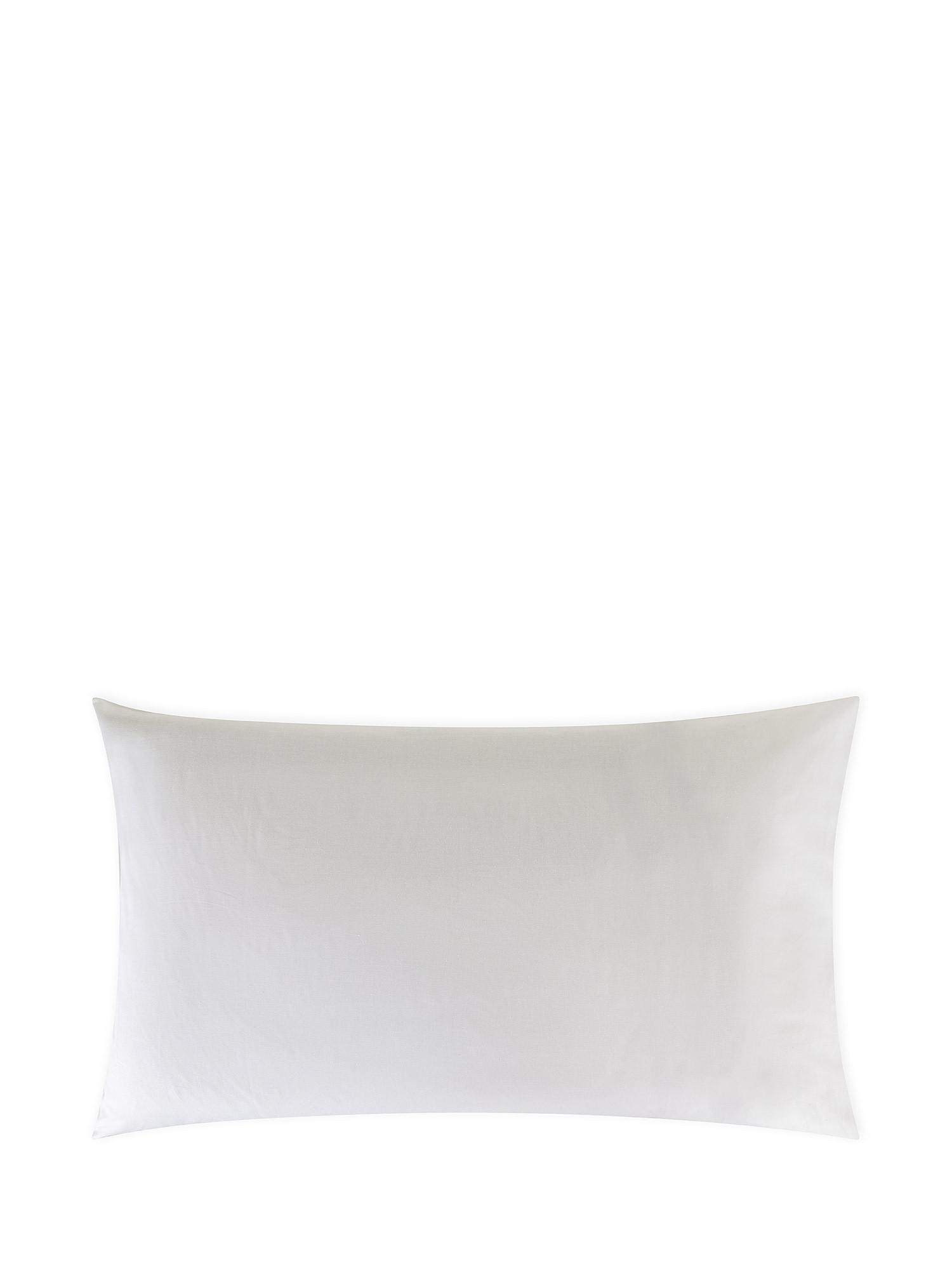 Federa puro cotone tinta unita, Bianco, large image number 0