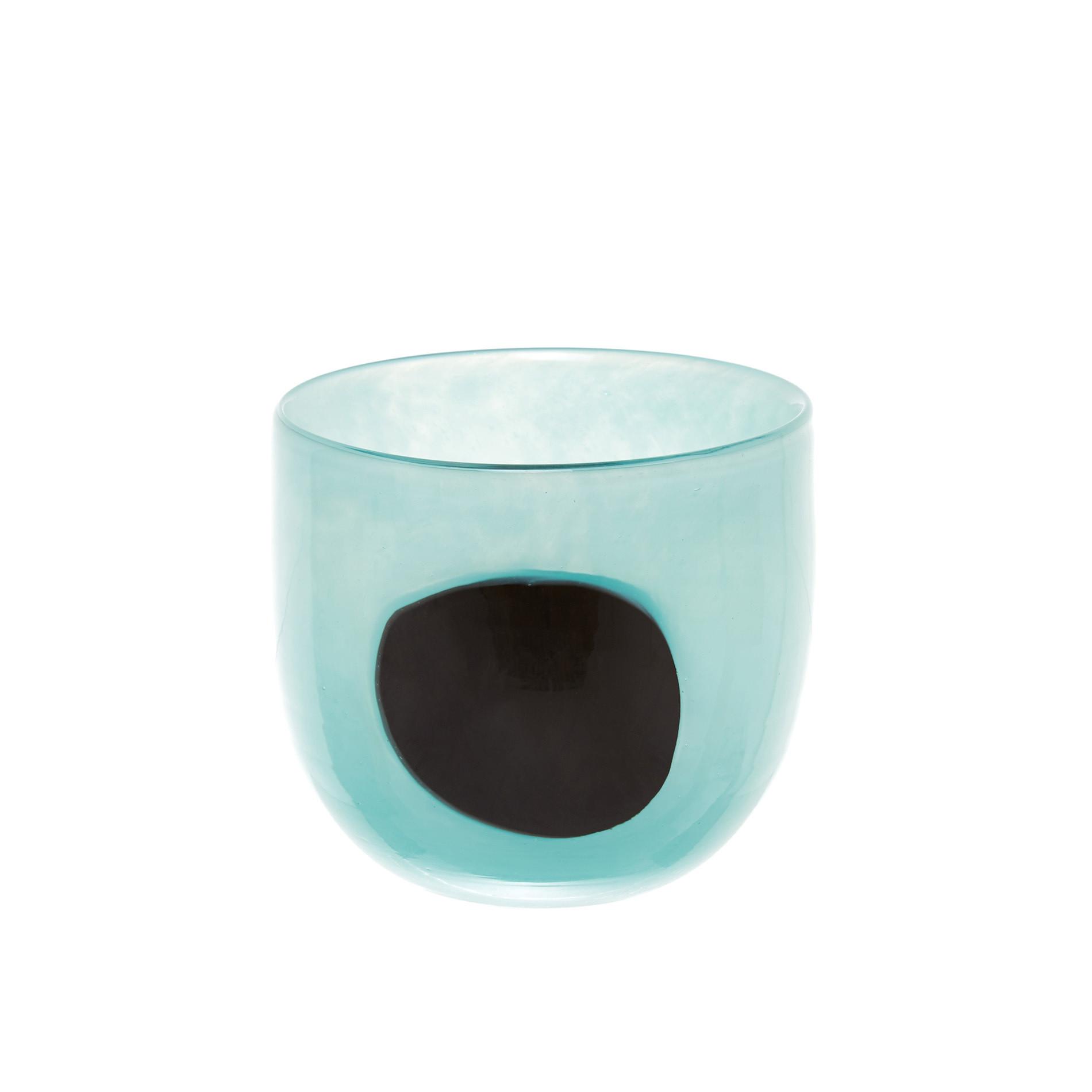 Vaso vetro colorato in pasta cerchio, Verde, large image number 0