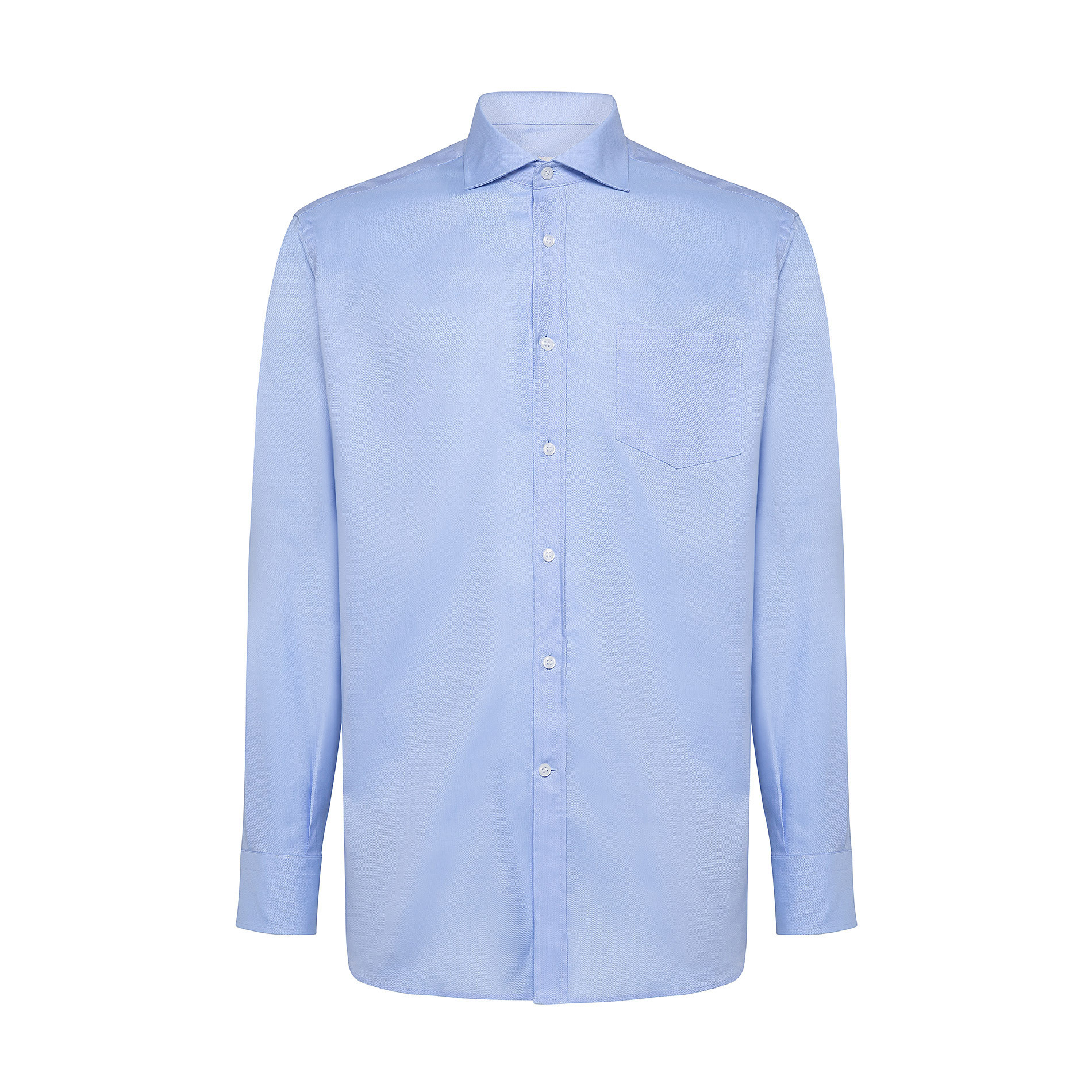 Camicia colletto francese in cotone, Azzurro, large image number 0