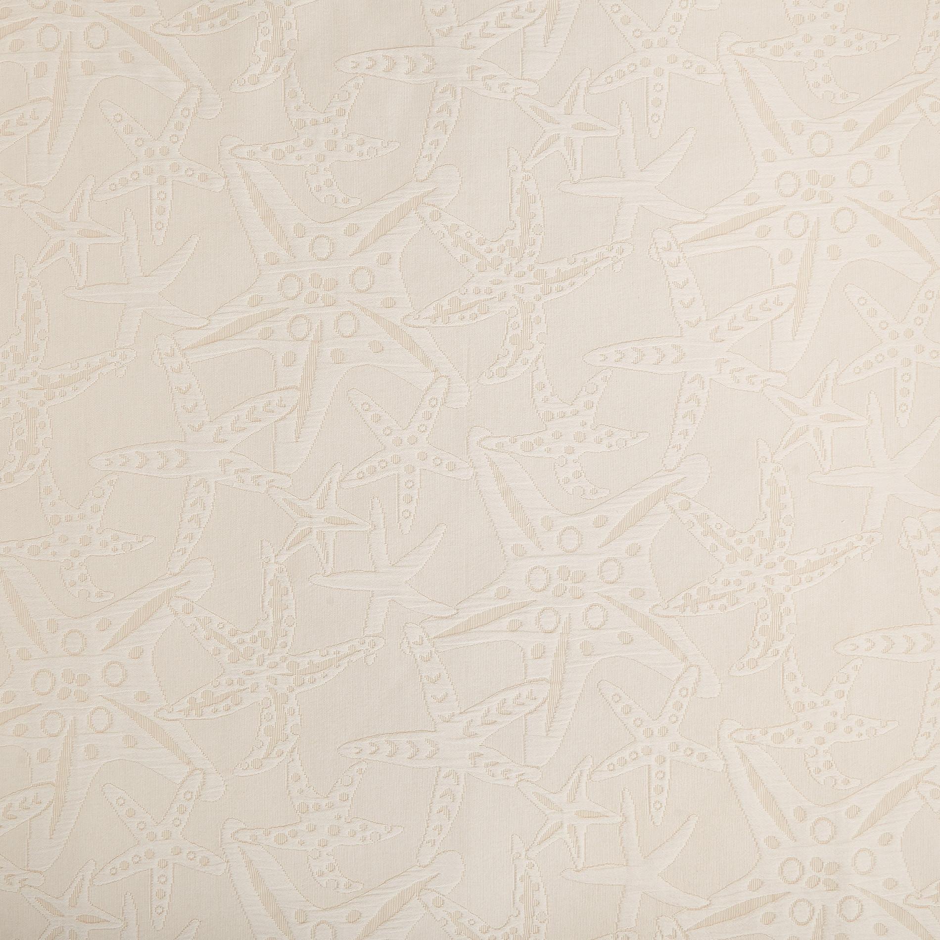 Copriletto puro cotone fantasia stelle marine, Beige, large image number 1