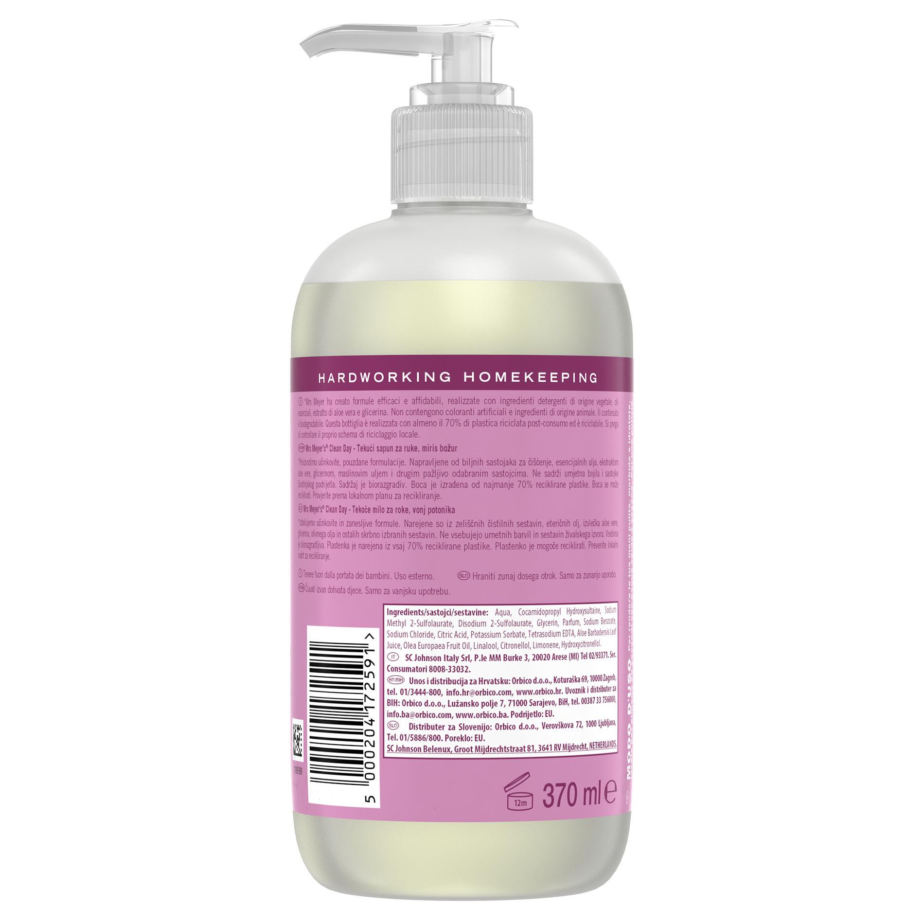 Sapone liquido per mani profumo di peonia 370ml, Rosa, large image number 1