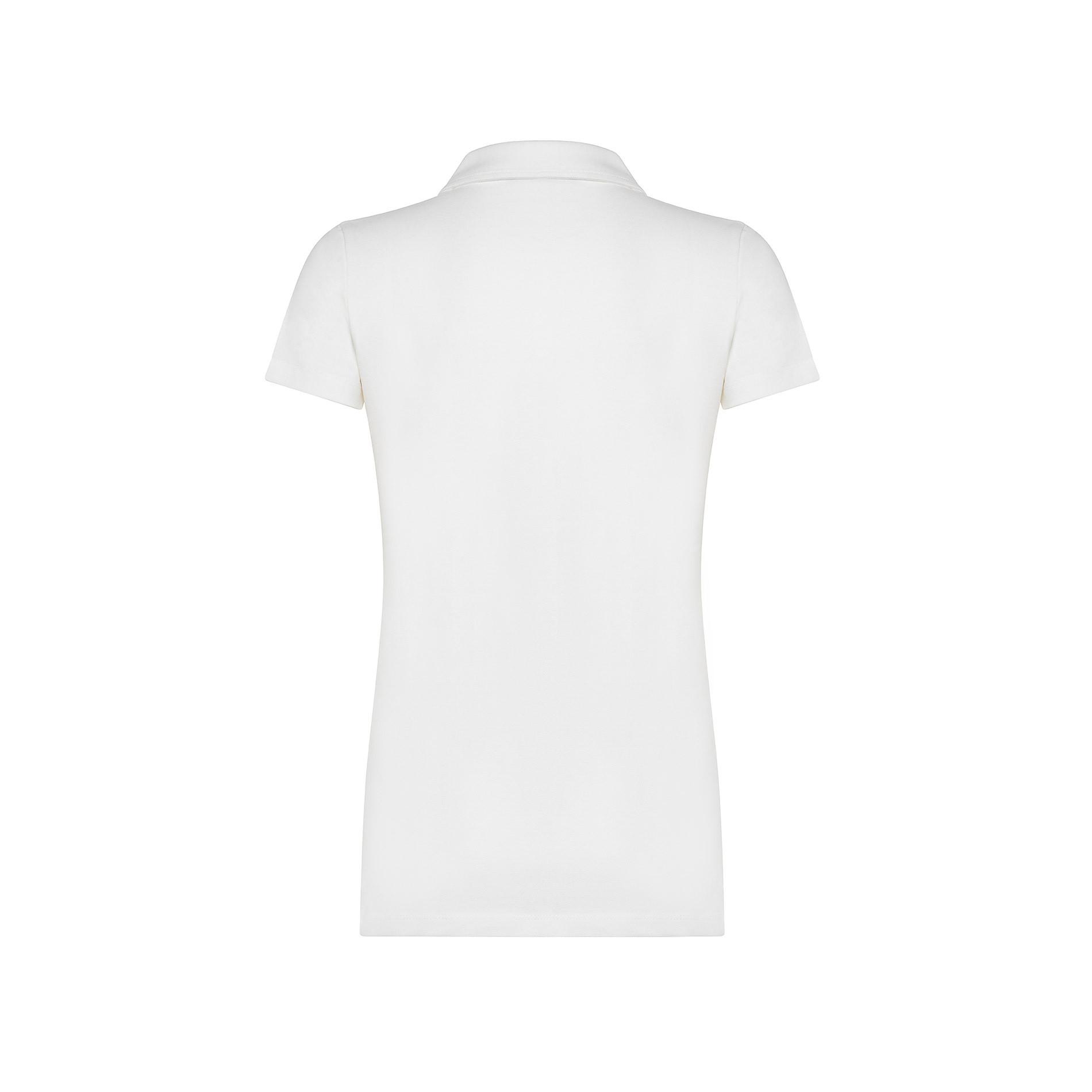 Polo cotone tinta unita, Bianco, large image number 1