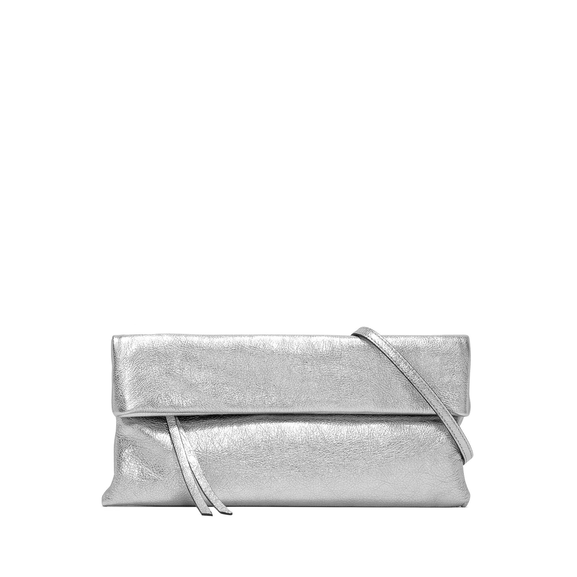 Borsa in pelle Cherry, Grigio argento, large image number 0