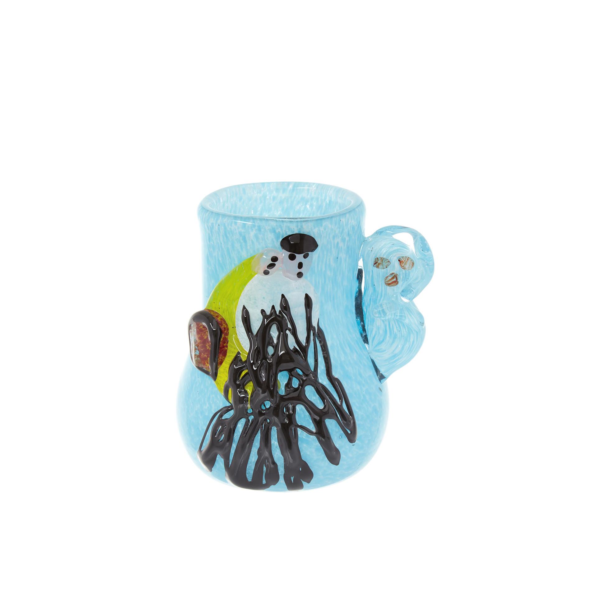 Vaso vetro colorato in pasta Chagall, Azzurro, large image number 0