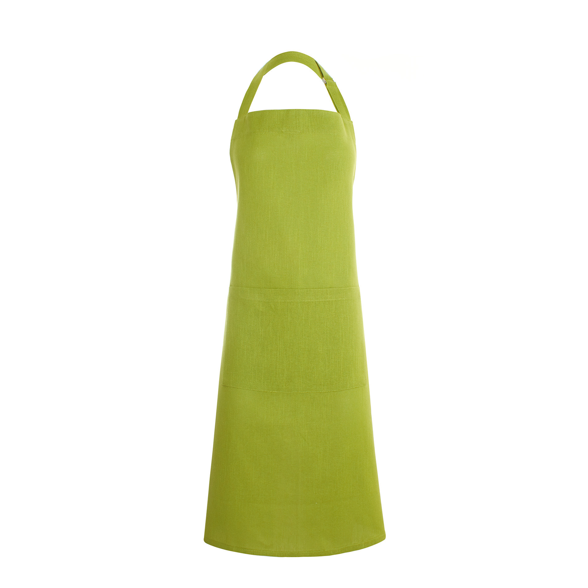 Grembiule a pettorina puro cotone fiammato, Verde mela, large image number 0