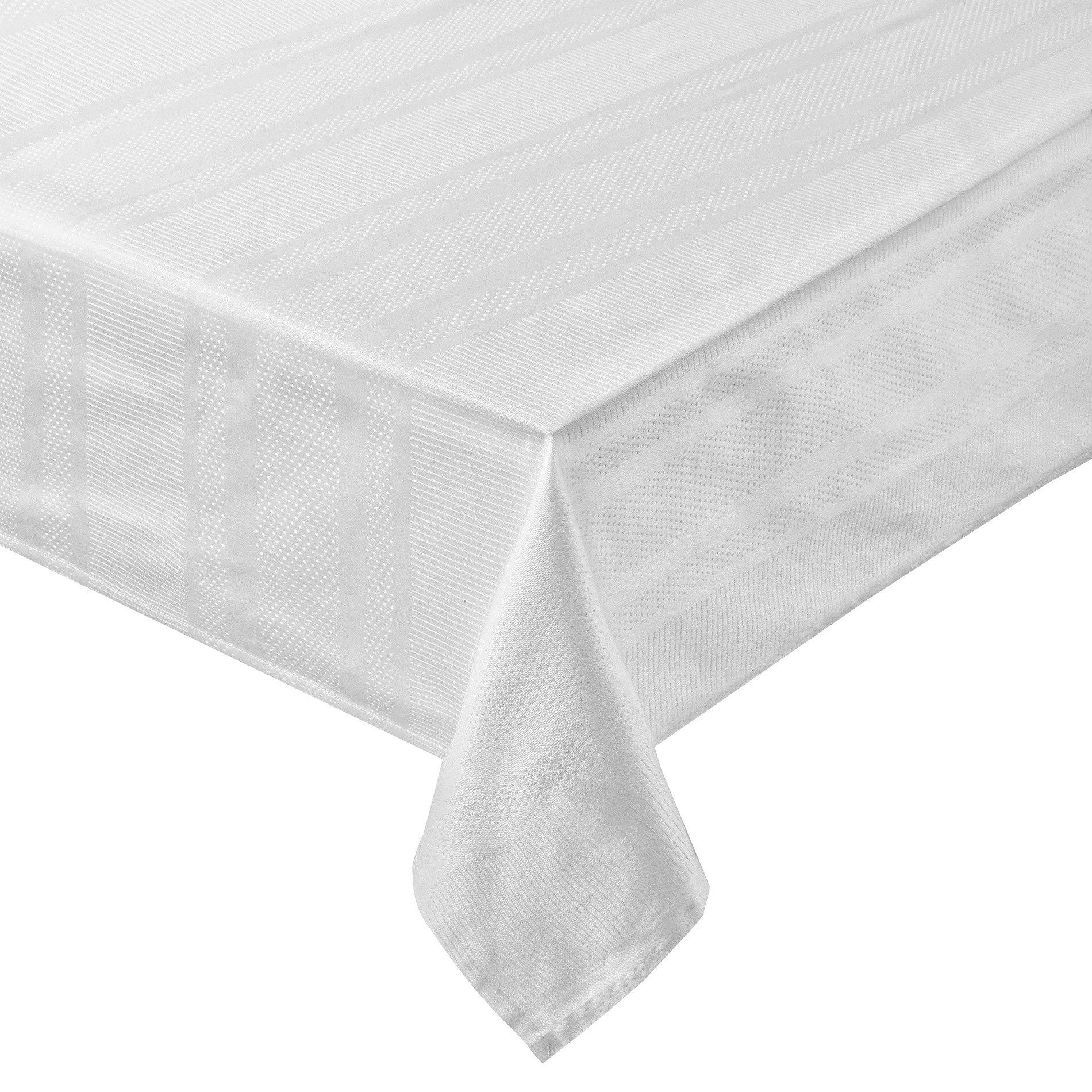 Tovaglia puro cotone egiziano jacquard, Bianco ghiaccio, large image number 0