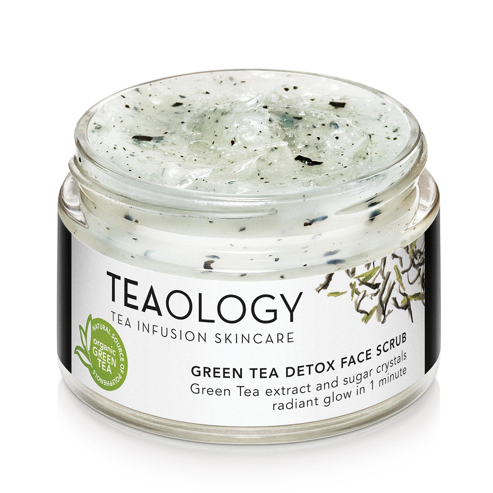 Teaology Green Tea Detox Face Scrub 50 ml, Bianco, large image number 0