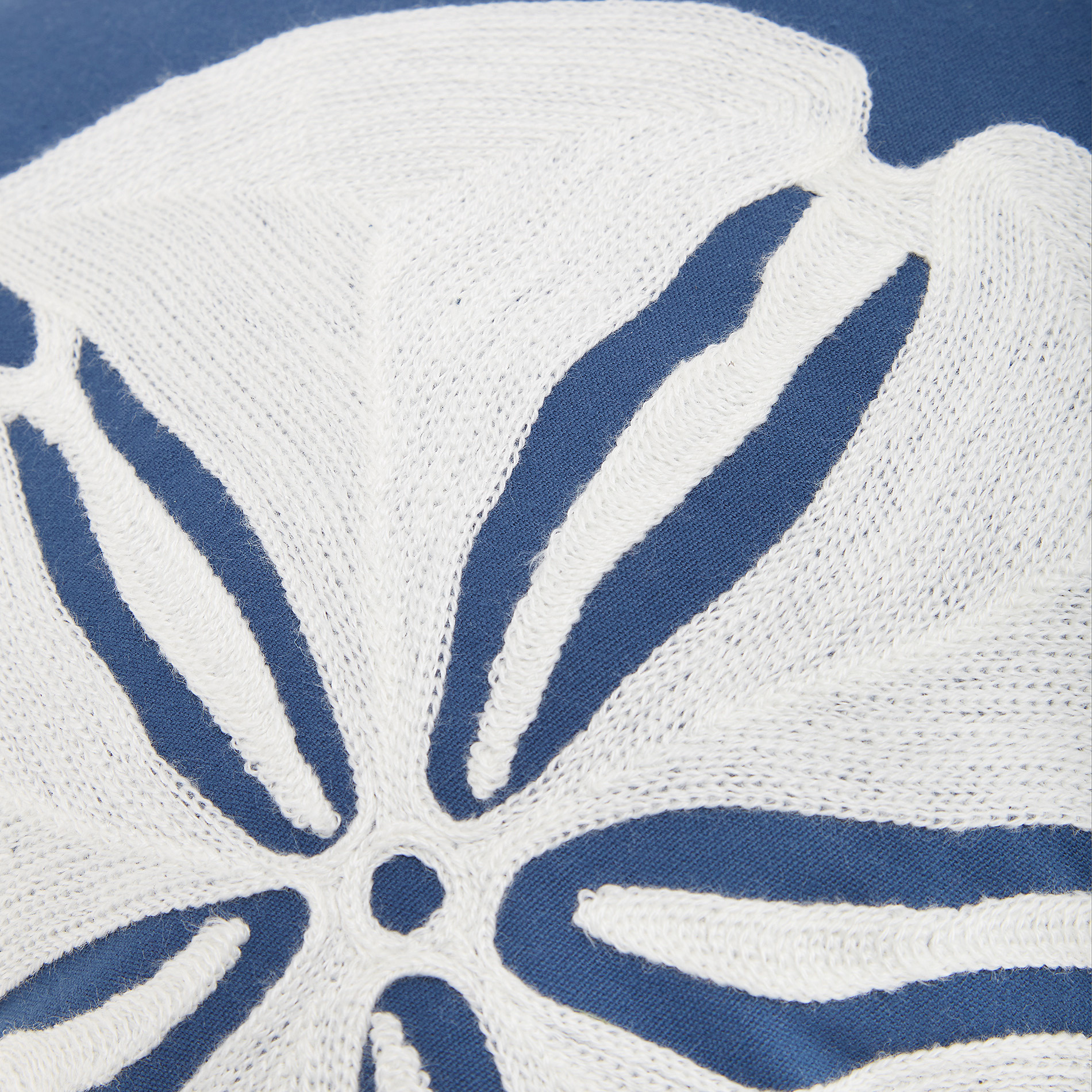 Cuscino ricamo conchiglie 45x45cm, Blu, large image number 1