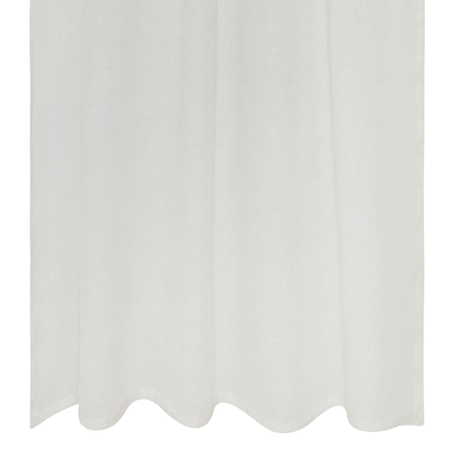 Tenda misto lino passanti nascosti, Bianco, large image number 1