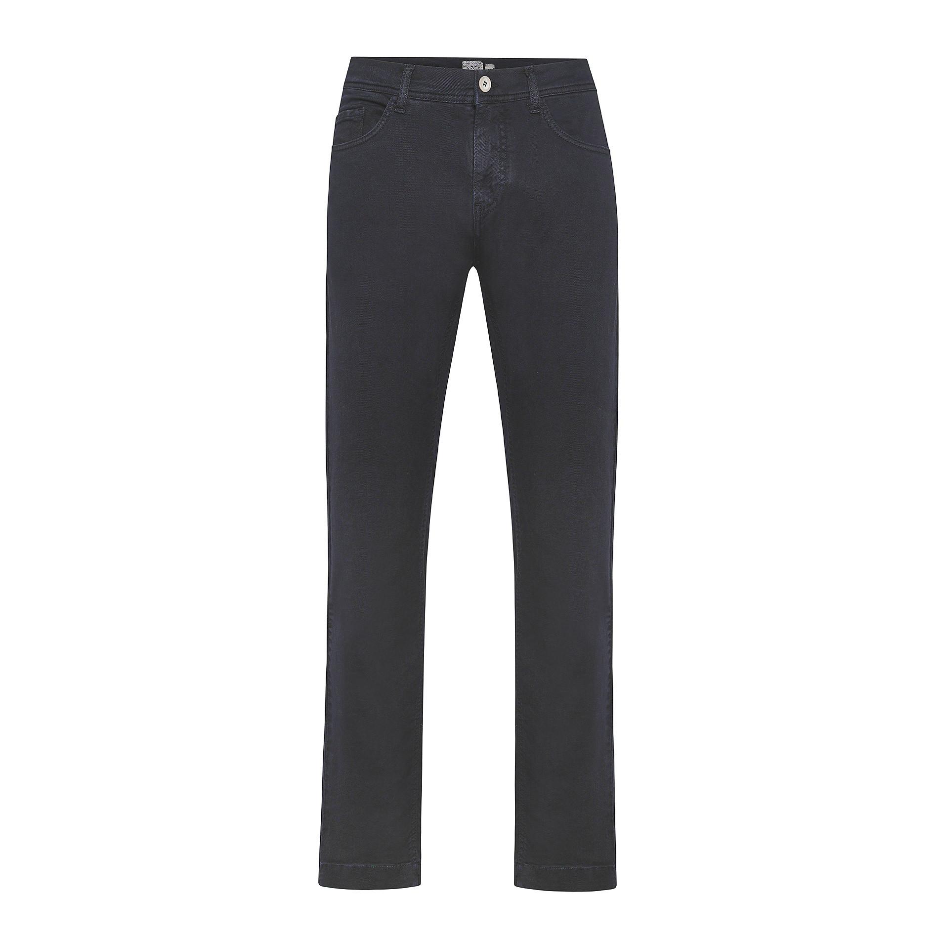 Pantalone cotone stretch 5 tasche JCT, Blu scuro, large image number 0